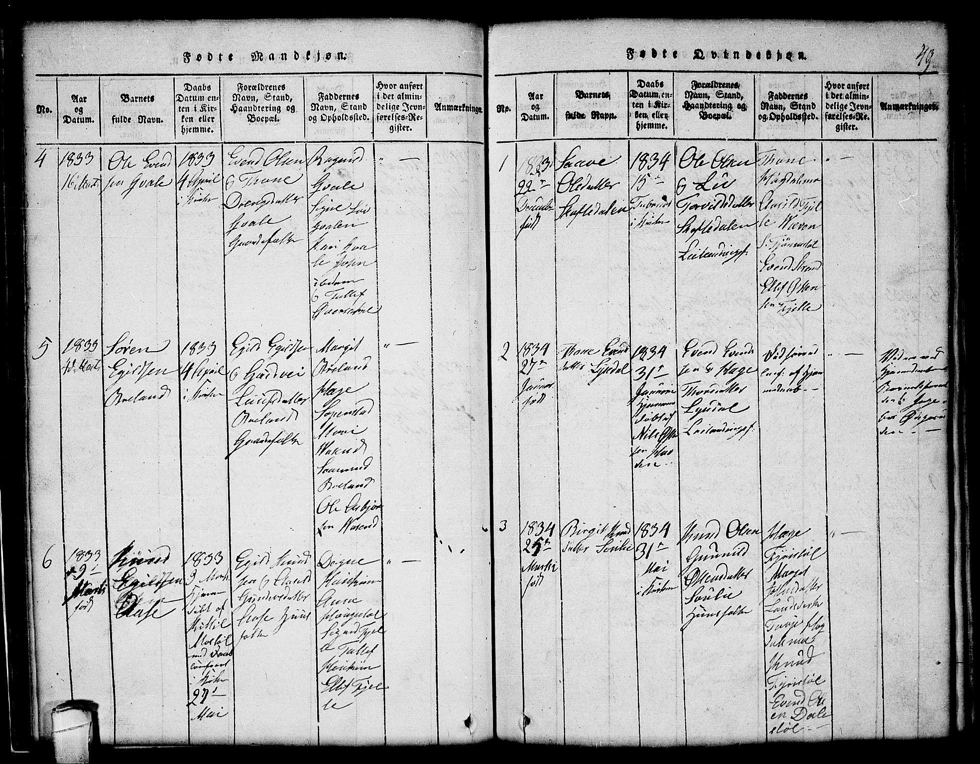SAKO, Lårdal kirkebøker, G/Gc/L0001: Klokkerbok nr. III 1, 1815-1854, s. 49