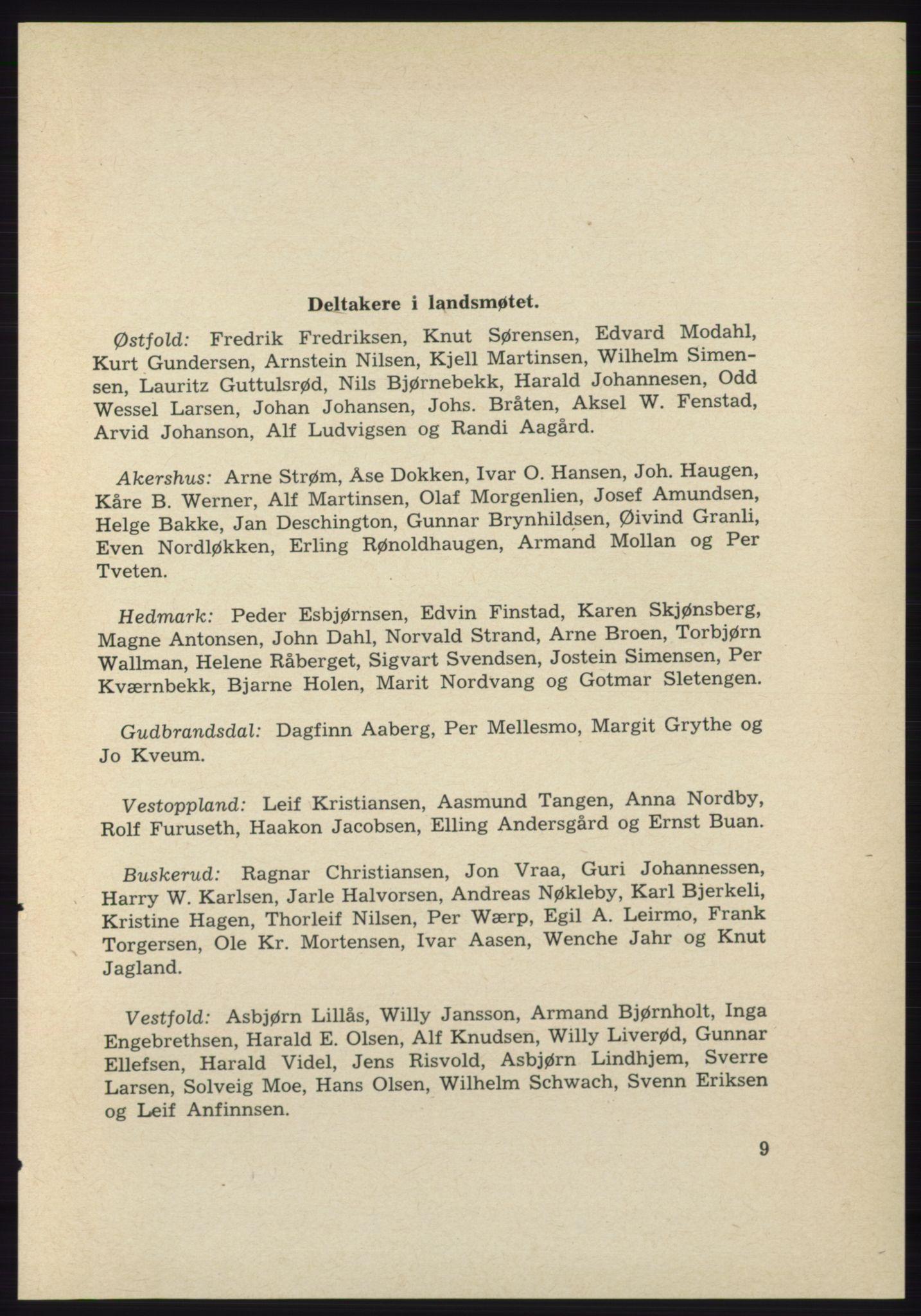 AAB, Det norske Arbeiderparti - publikasjoner, -/-: Protokoll over forhandlingene på det 39. ordinære landsmøte 23.-25. mai 1963 i Oslo, 1963, s. 9