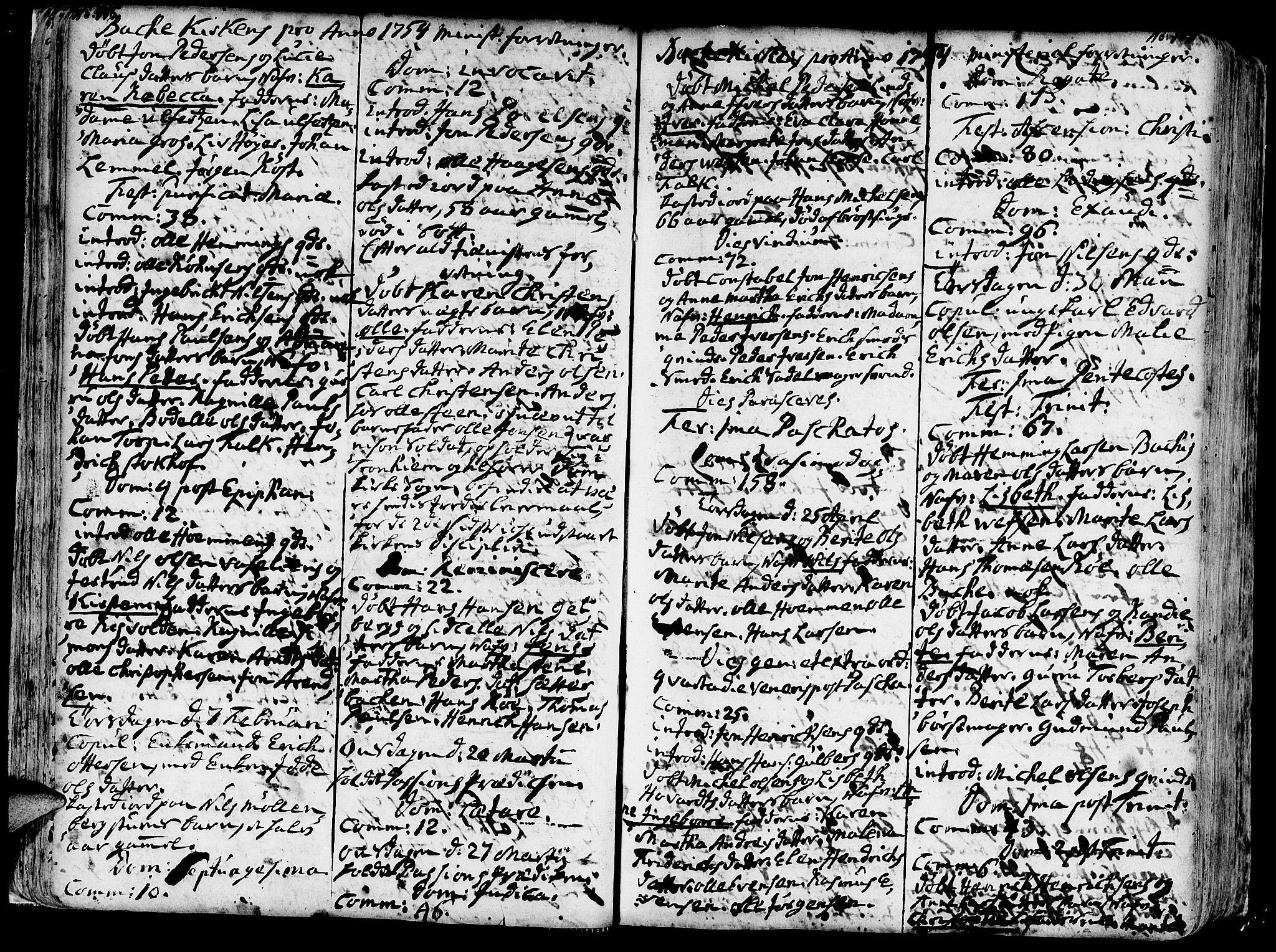 SAT, Ministerialprotokoller, klokkerbøker og fødselsregistre - Sør-Trøndelag, 606/L0276: Ministerialbok nr. 606A01 /2, 1727-1779, s. 106-107