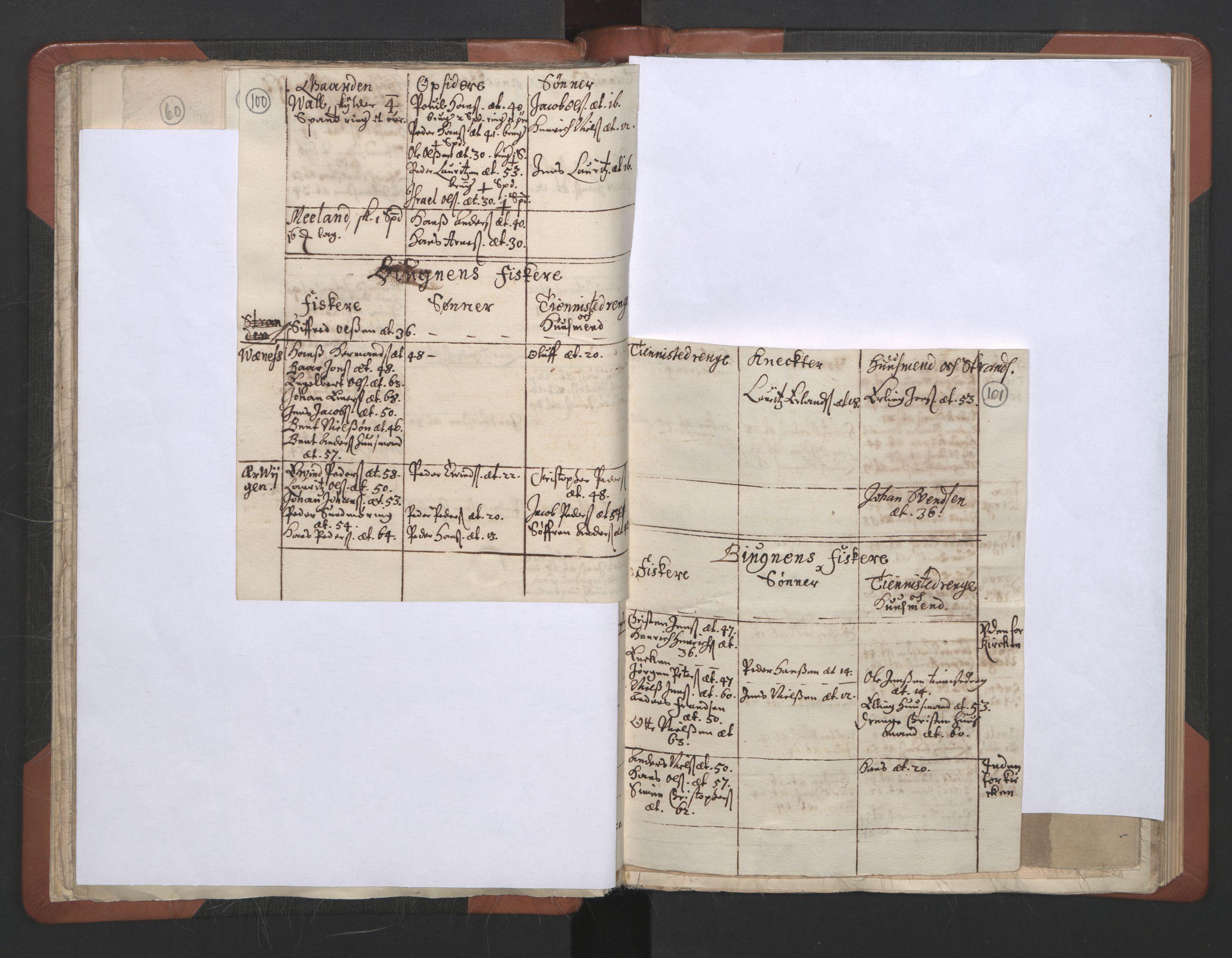 RA, Sogneprestenes manntall 1664-1666, nr. 30: Fosen prosti, 1664-1666, s. 100-101