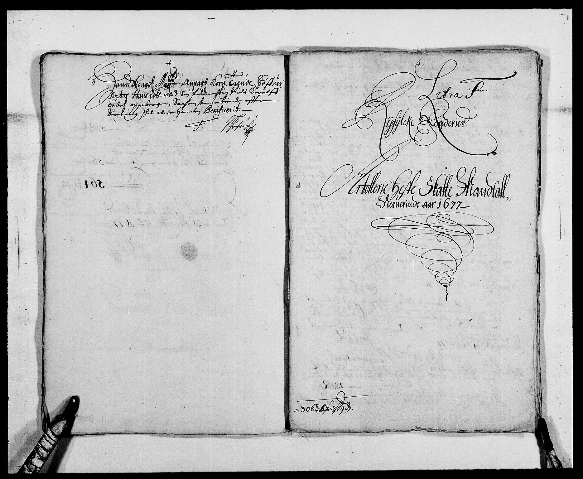 RA, Rentekammeret inntil 1814, Reviderte regnskaper, Fogderegnskap, R47/L2847: Fogderegnskap Ryfylke, 1677, s. 181