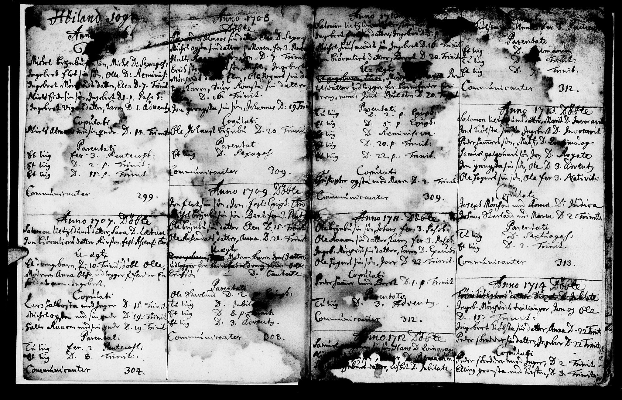 SAT, Ministerialprotokoller, klokkerbøker og fødselsregistre - Nord-Trøndelag, 765/L0560: Ministerialbok nr. 765A01, 1706-1748, s. 2