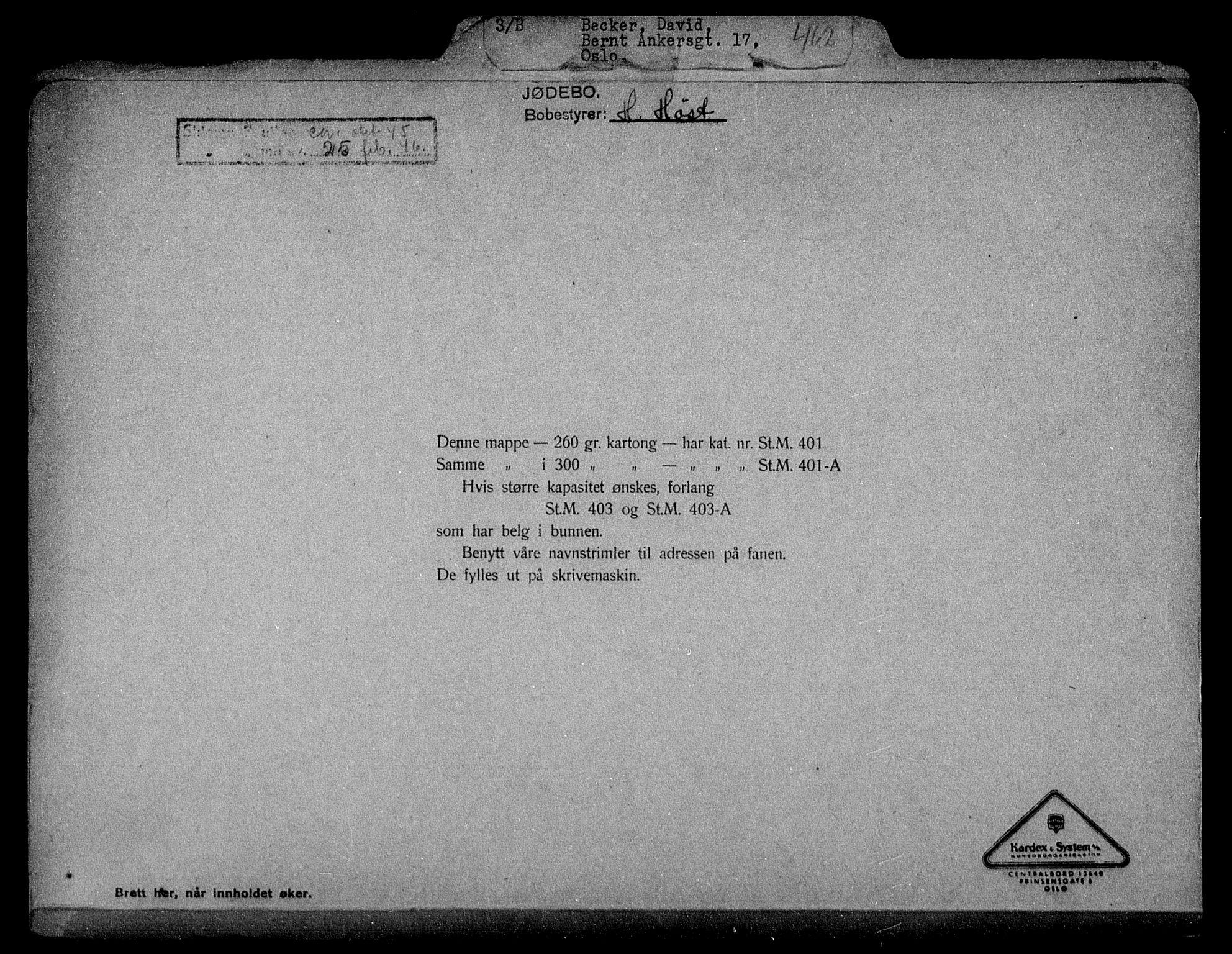 RA, Justisdepartementet, Tilbakeføringskontoret for inndratte formuer, H/Hc/Hcc/L0919: --, 1945-1947, s. 2