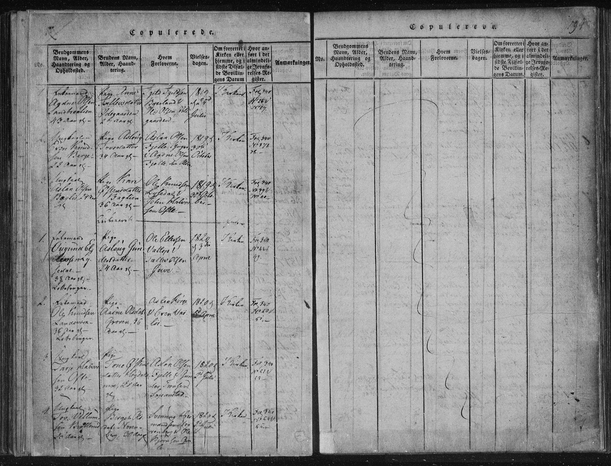 SAKO, Lårdal kirkebøker, F/Fc/L0001: Ministerialbok nr. III 1, 1815-1860, s. 194