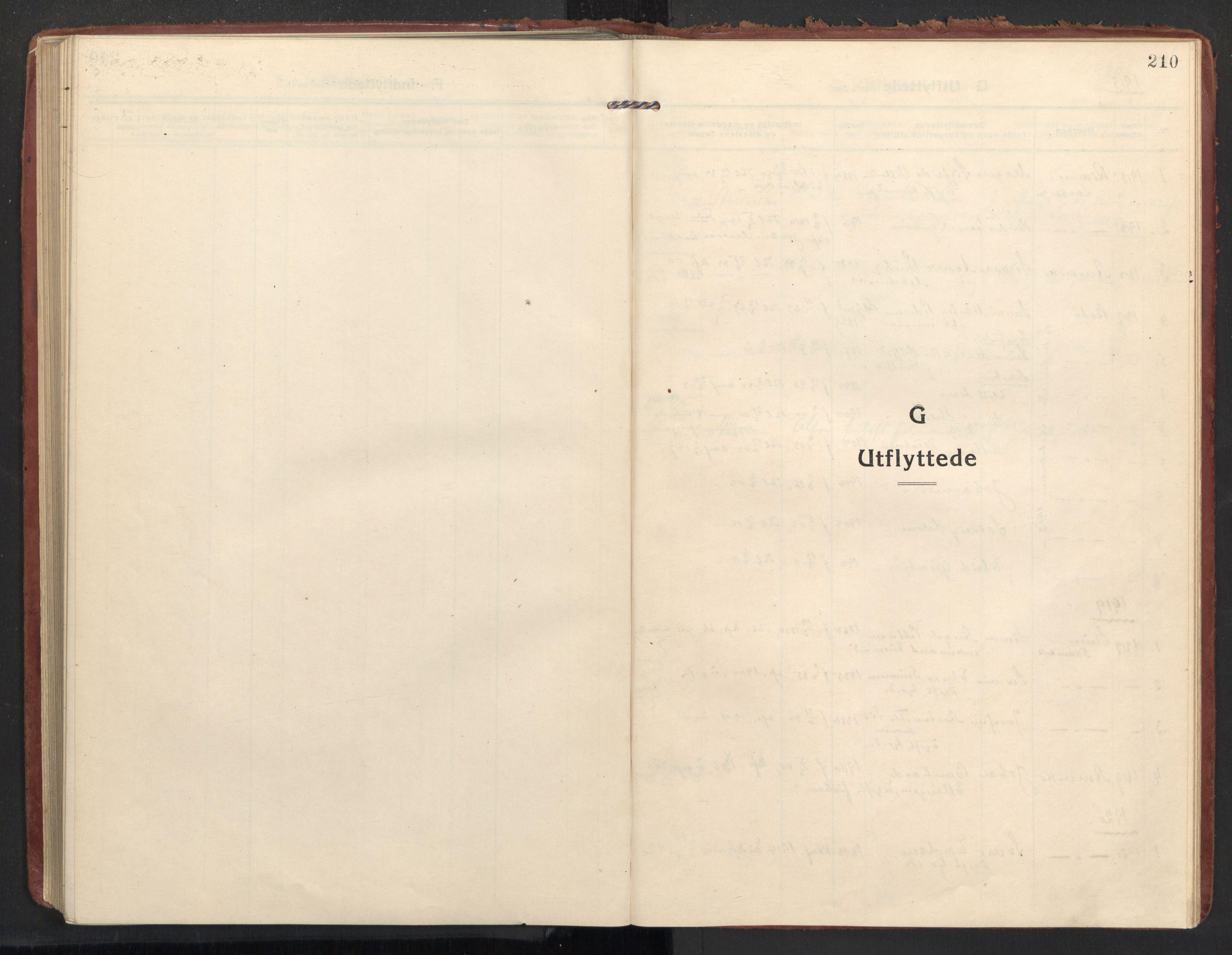 SAT, Ministerialprotokoller, klokkerbøker og fødselsregistre - Nordland, 890/L1288: Ministerialbok nr. 890A03, 1915-1925, s. 210