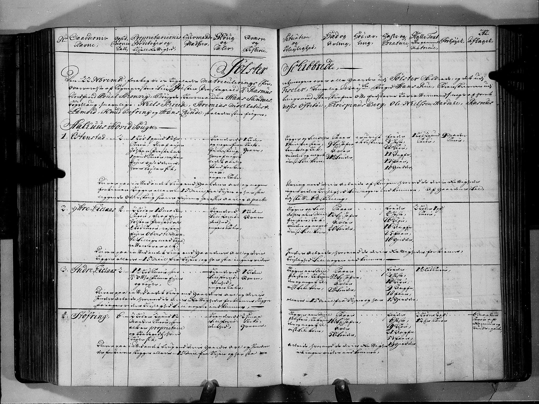 RA, Rentekammeret inntil 1814, Realistisk ordnet avdeling, N/Nb/Nbf/L0146: Sunnfjord og Nordfjord eksaminasjonsprotokoll, 1723, s. 241b-242a