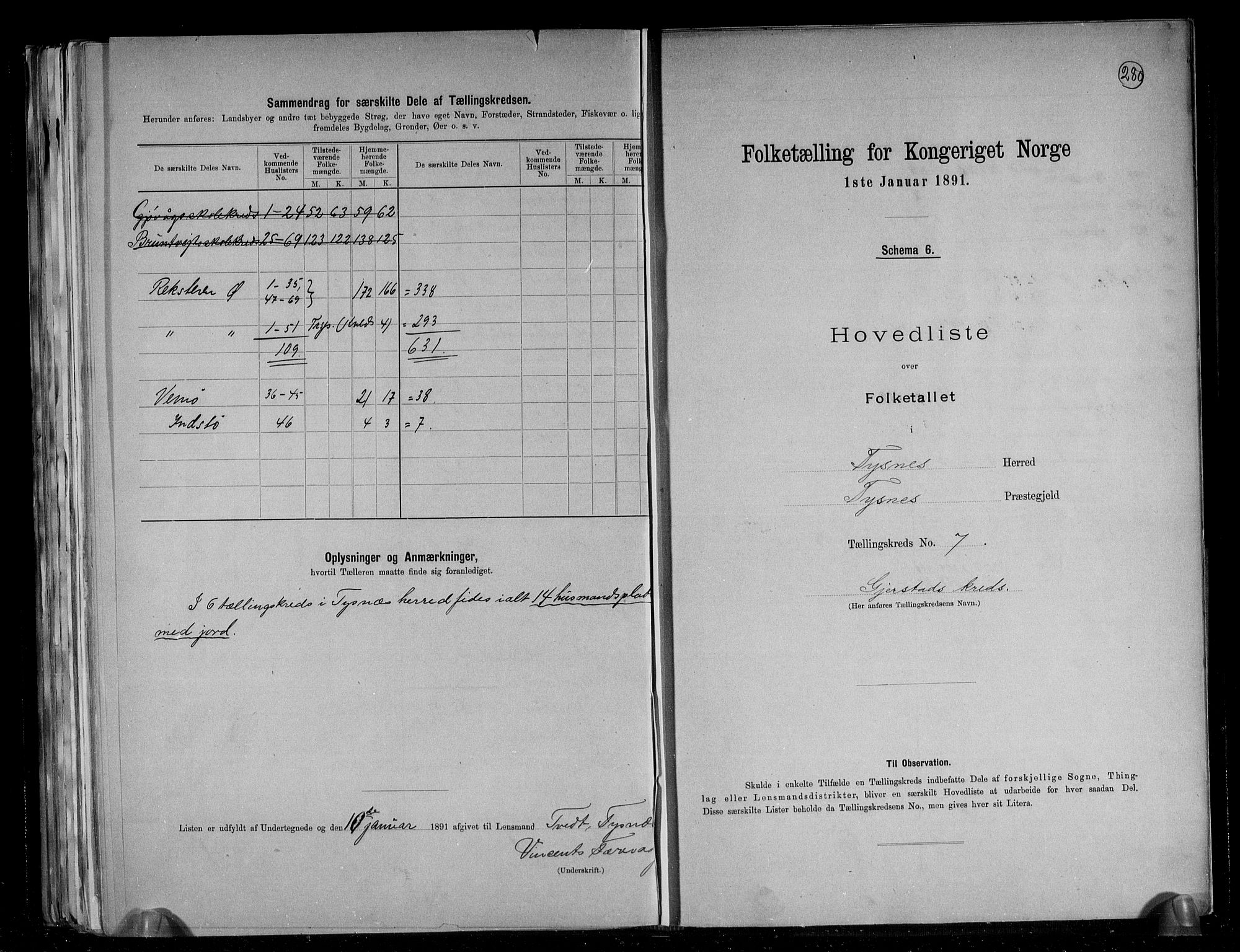 RA, Folketelling 1891 for 1223 Tysnes herred, 1891, s. 18