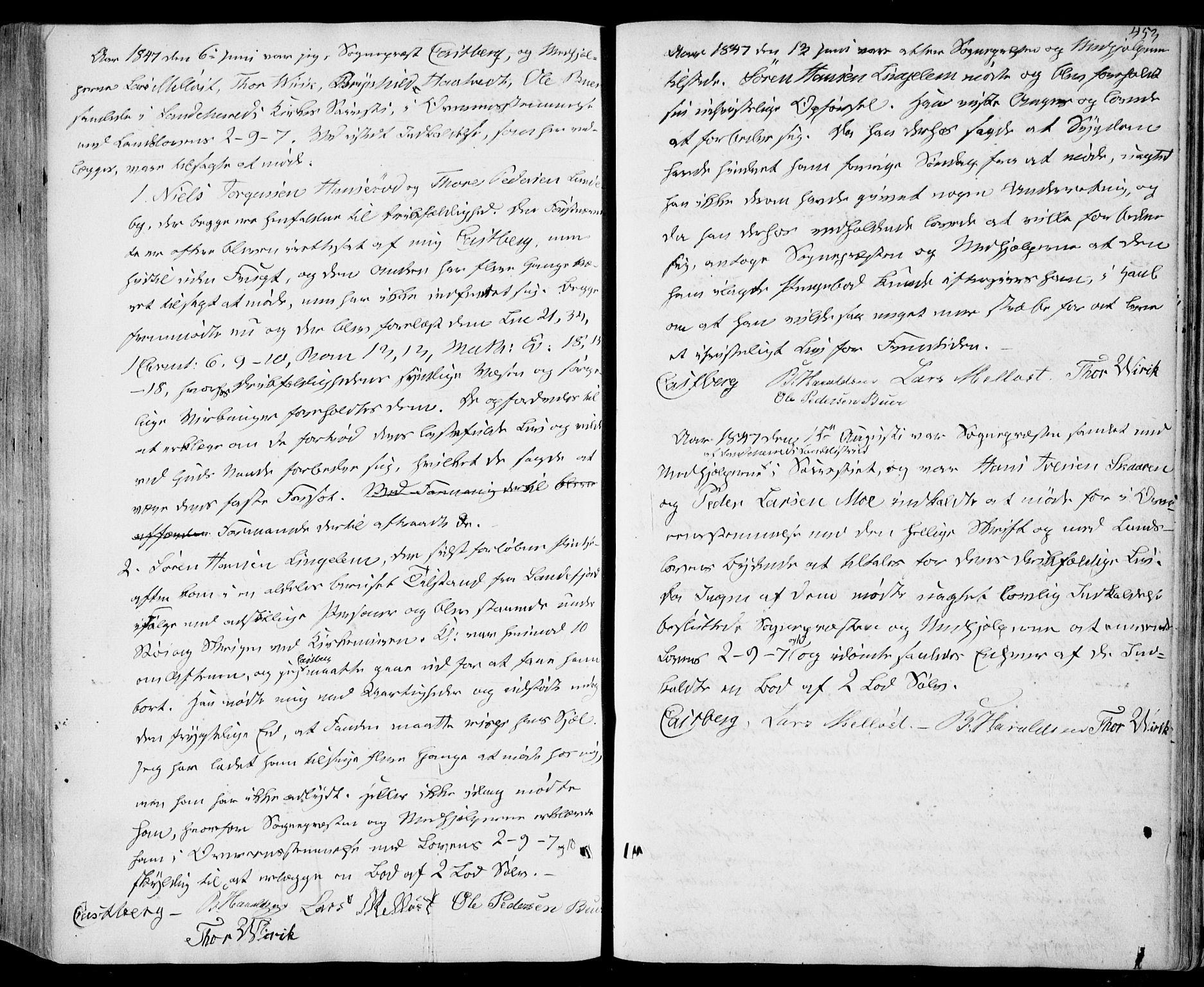SAKO, Sandar kirkebøker, F/Fa/L0006: Ministerialbok nr. 6, 1847-1860, s. 453