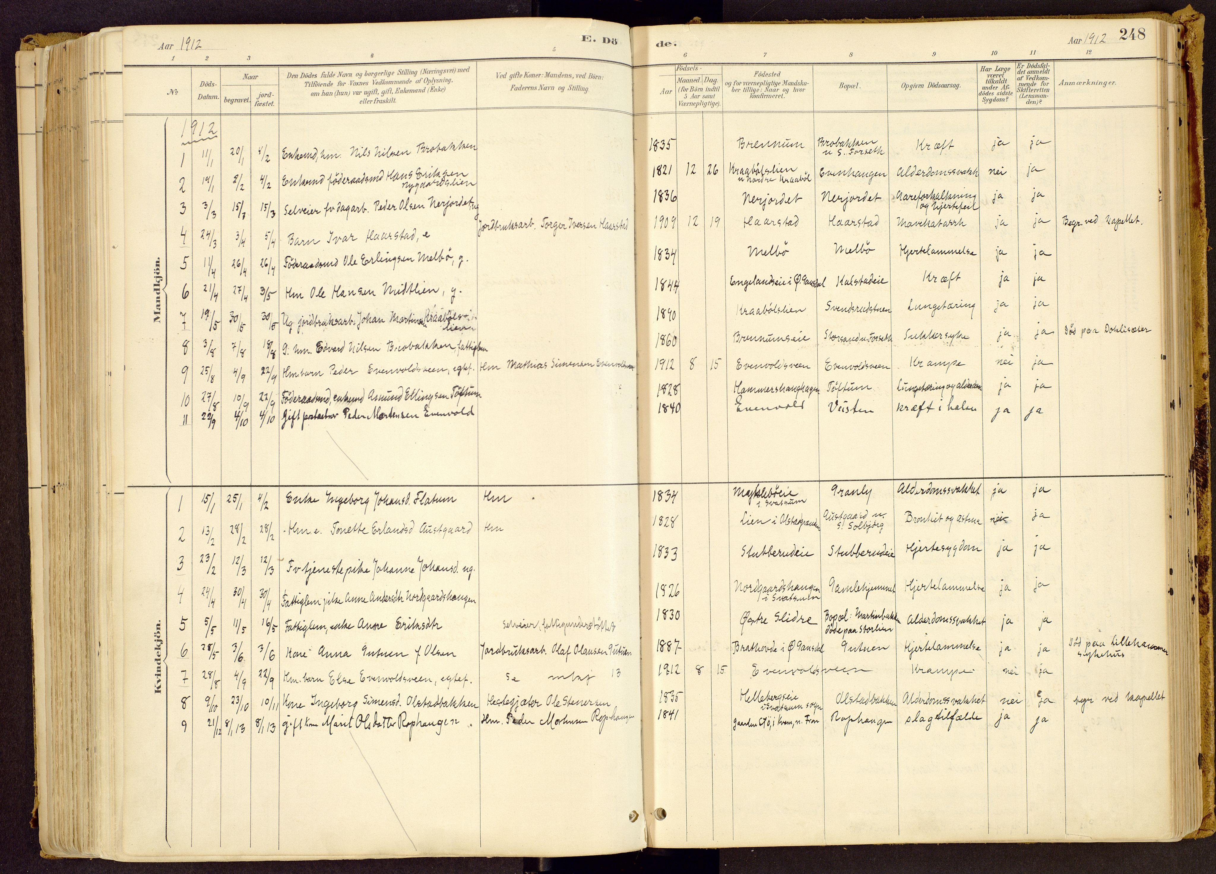 SAH, Vestre Gausdal prestekontor, Ministerialbok nr. 1, 1887-1914, s. 248