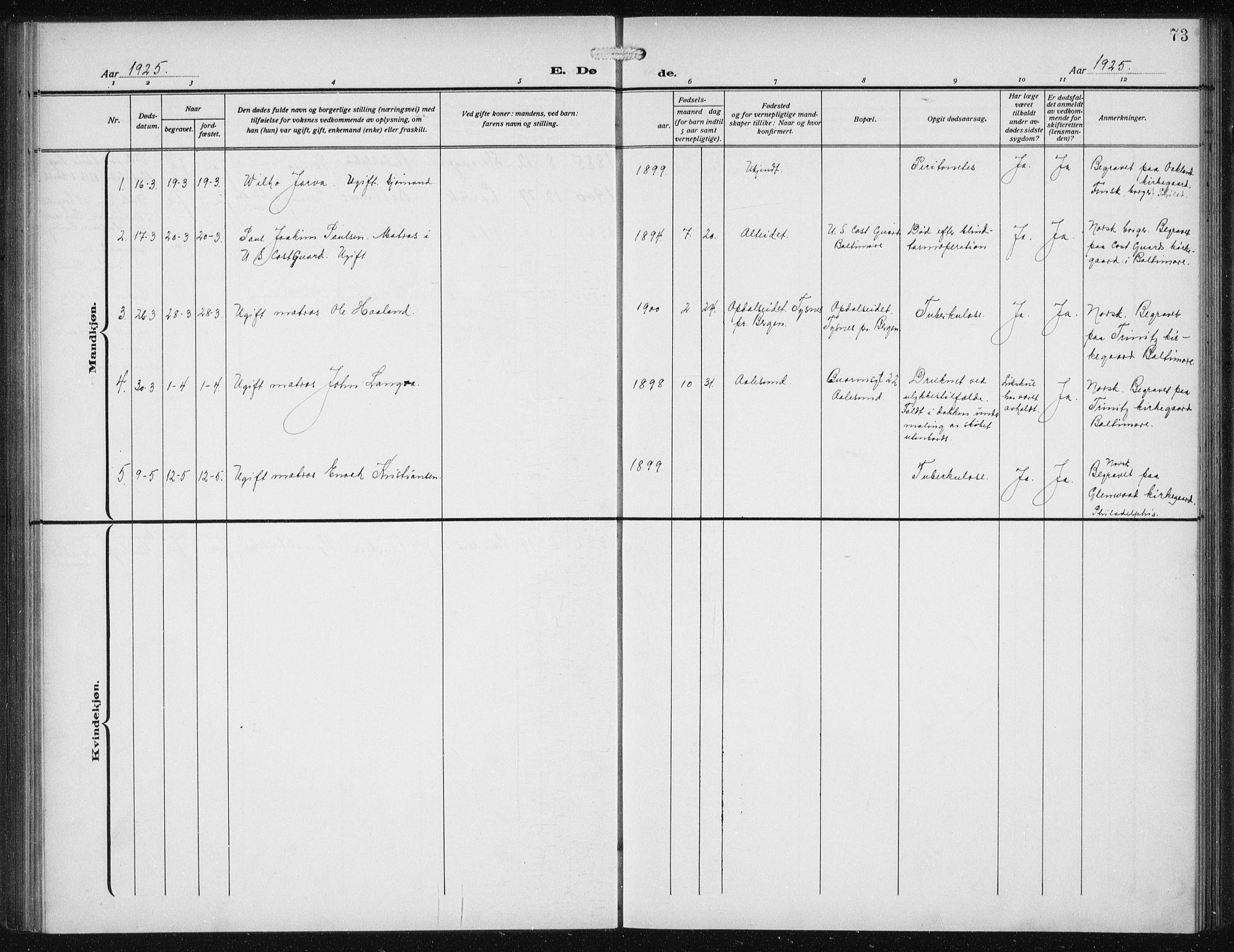 SAB, Den Norske Sjømannsmisjon i utlandet*, Ministerialbok nr. A 1, 1912-1931, s. 73