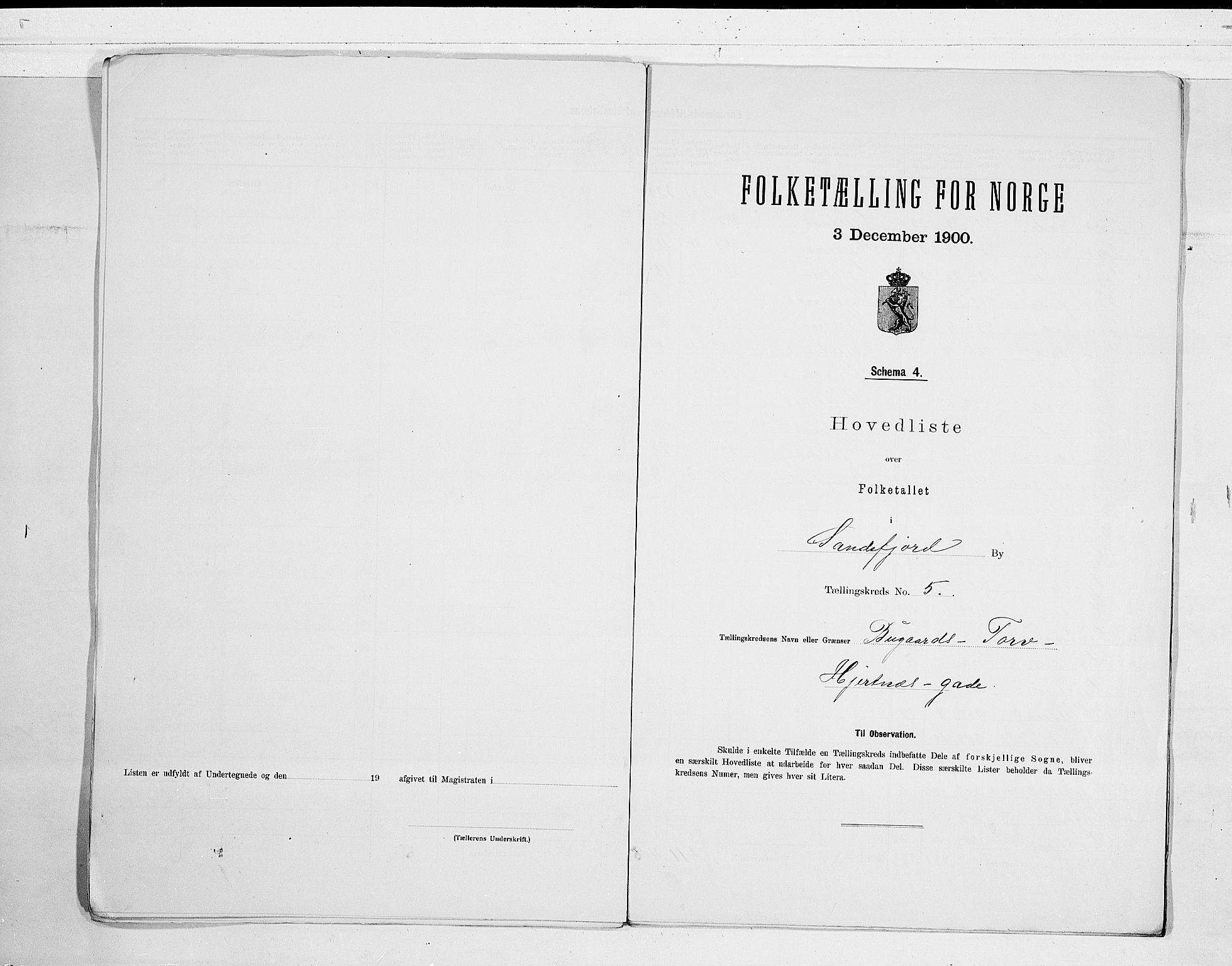 RA, Folketelling 1900 for 0706 Sandefjord kjøpstad, 1900, s. 12