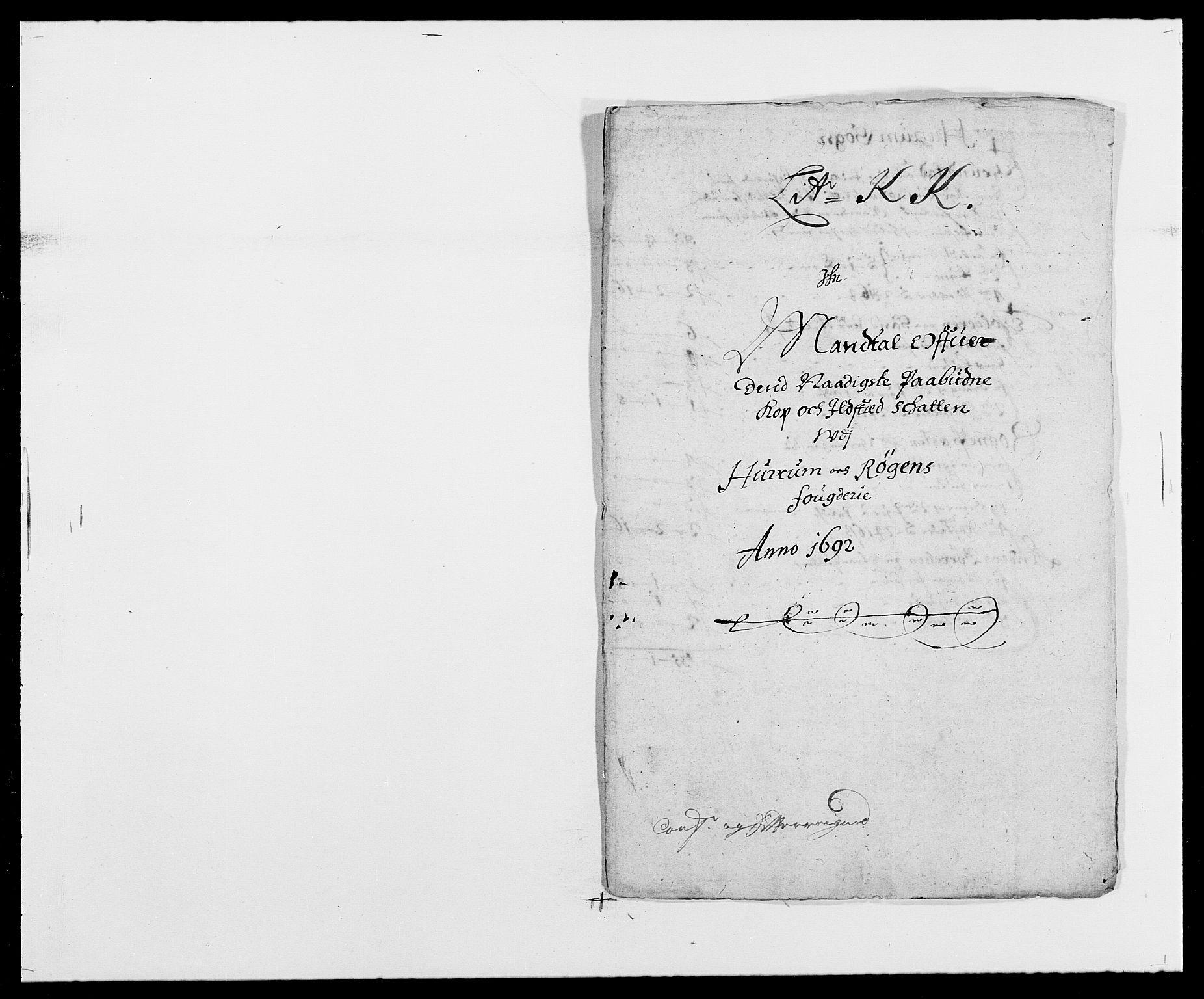 RA, Rentekammeret inntil 1814, Reviderte regnskaper, Fogderegnskap, R29/L1693: Fogderegnskap Hurum og Røyken, 1688-1693, s. 270