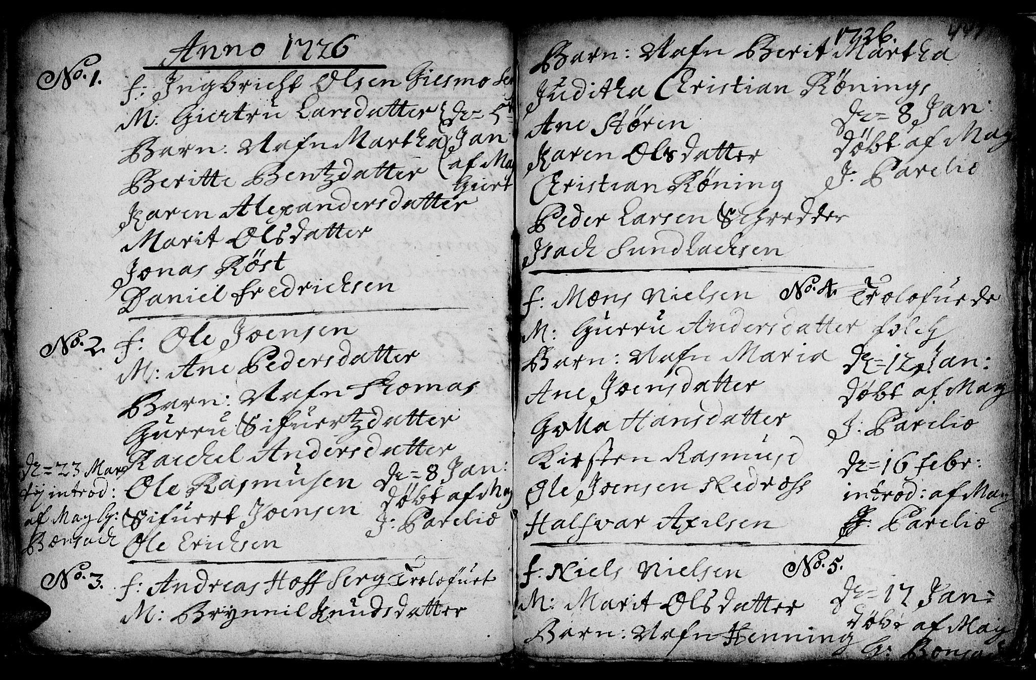 SAT, Ministerialprotokoller, klokkerbøker og fødselsregistre - Sør-Trøndelag, 601/L0035: Ministerialbok nr. 601A03, 1713-1728, s. 447