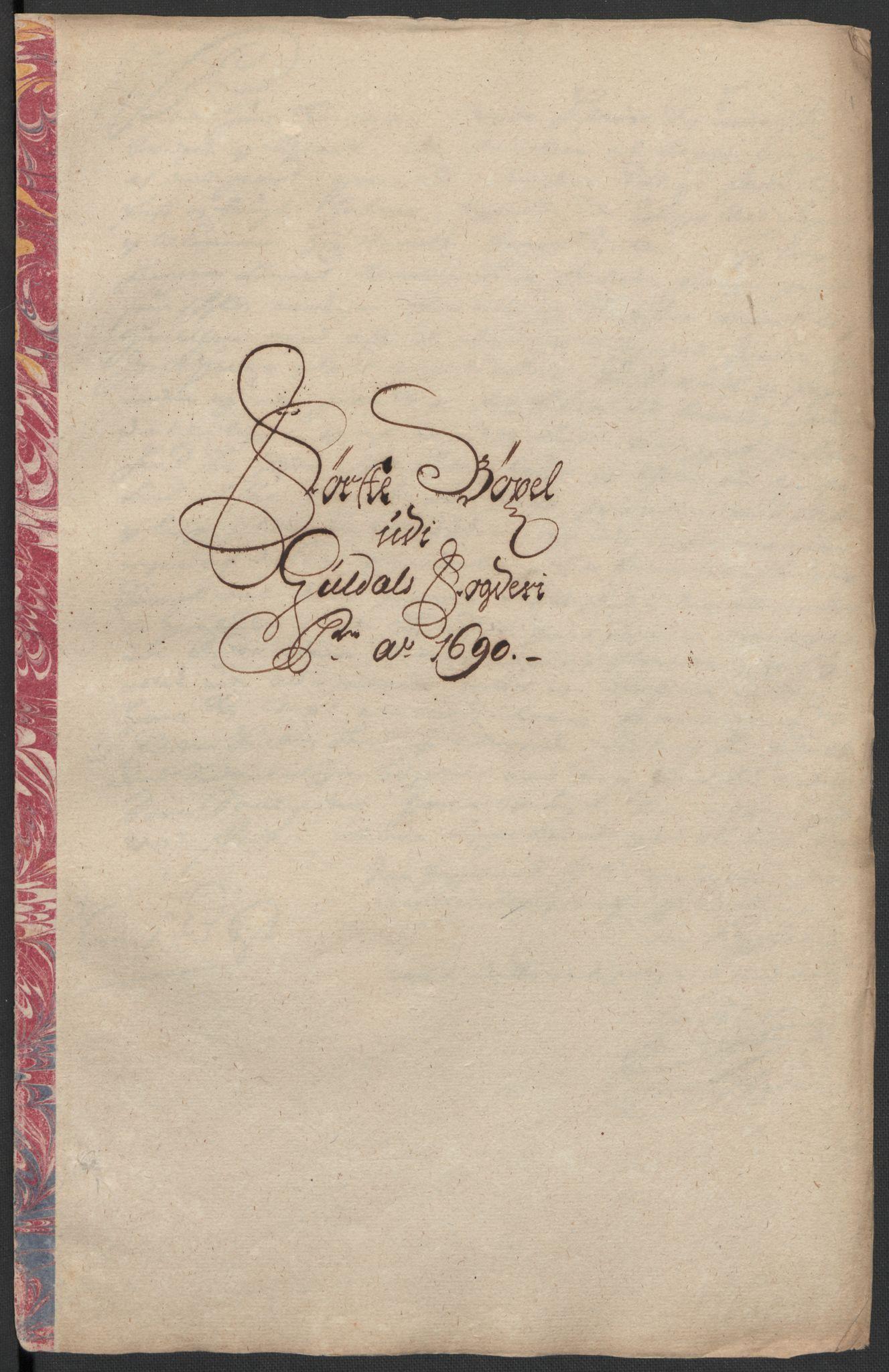 RA, Rentekammeret inntil 1814, Reviderte regnskaper, Fogderegnskap, R59/L3940: Fogderegnskap Gauldal, 1689-1690, s. 349