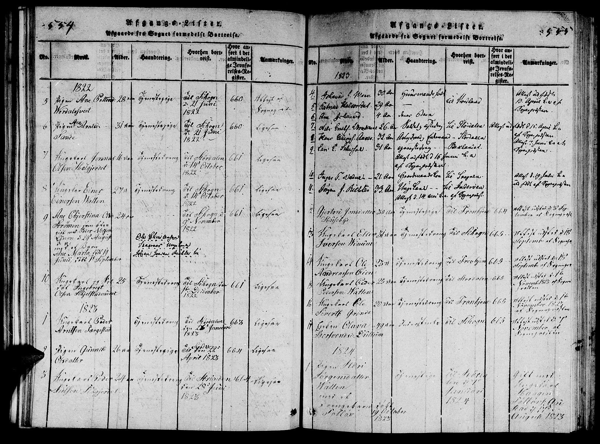 SAT, Ministerialprotokoller, klokkerbøker og fødselsregistre - Nord-Trøndelag, 714/L0132: Klokkerbok nr. 714C01, 1817-1824, s. 554-555