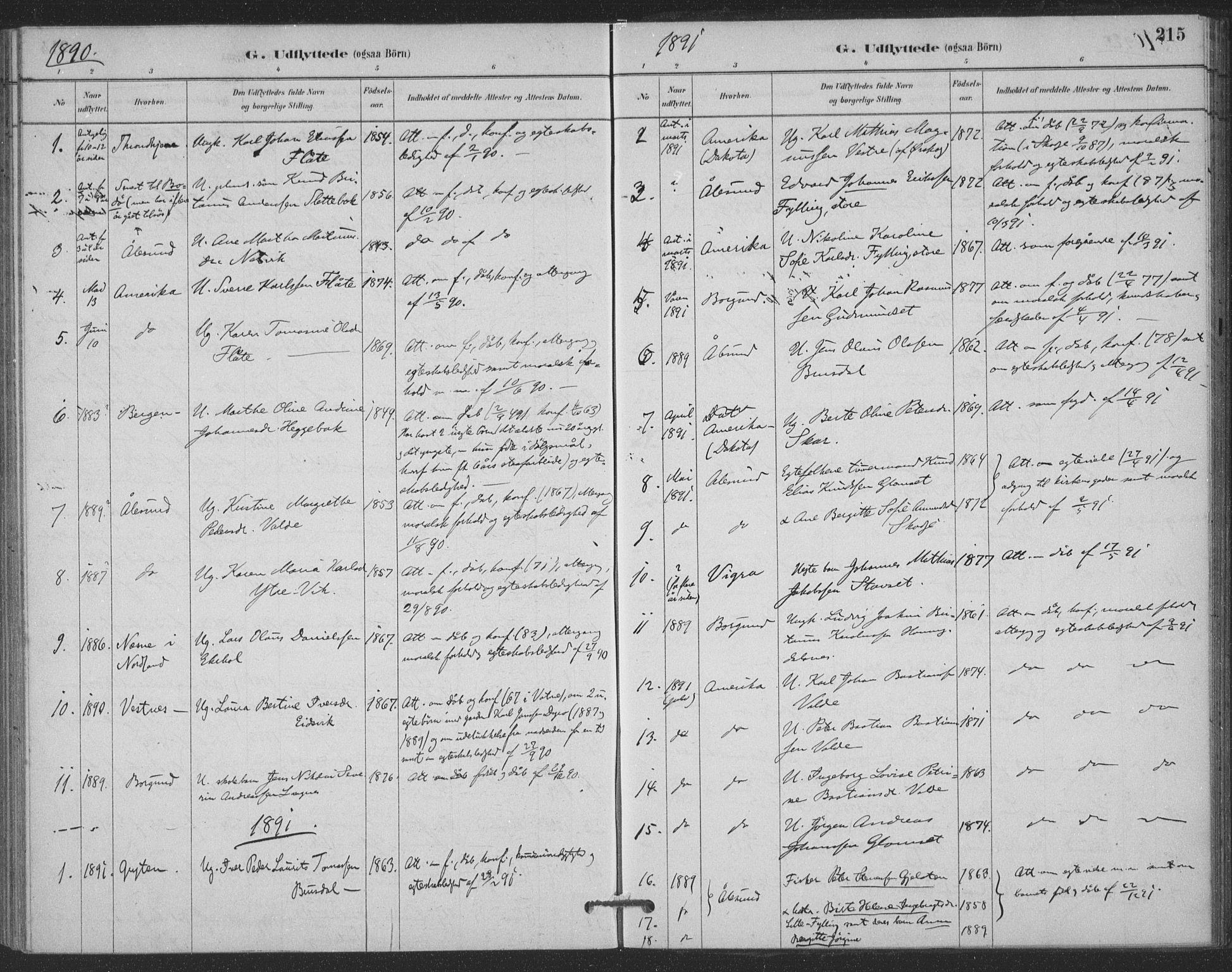 SAT, Ministerialprotokoller, klokkerbøker og fødselsregistre - Møre og Romsdal, 524/L0356: Ministerialbok nr. 524A08, 1880-1899, s. 215