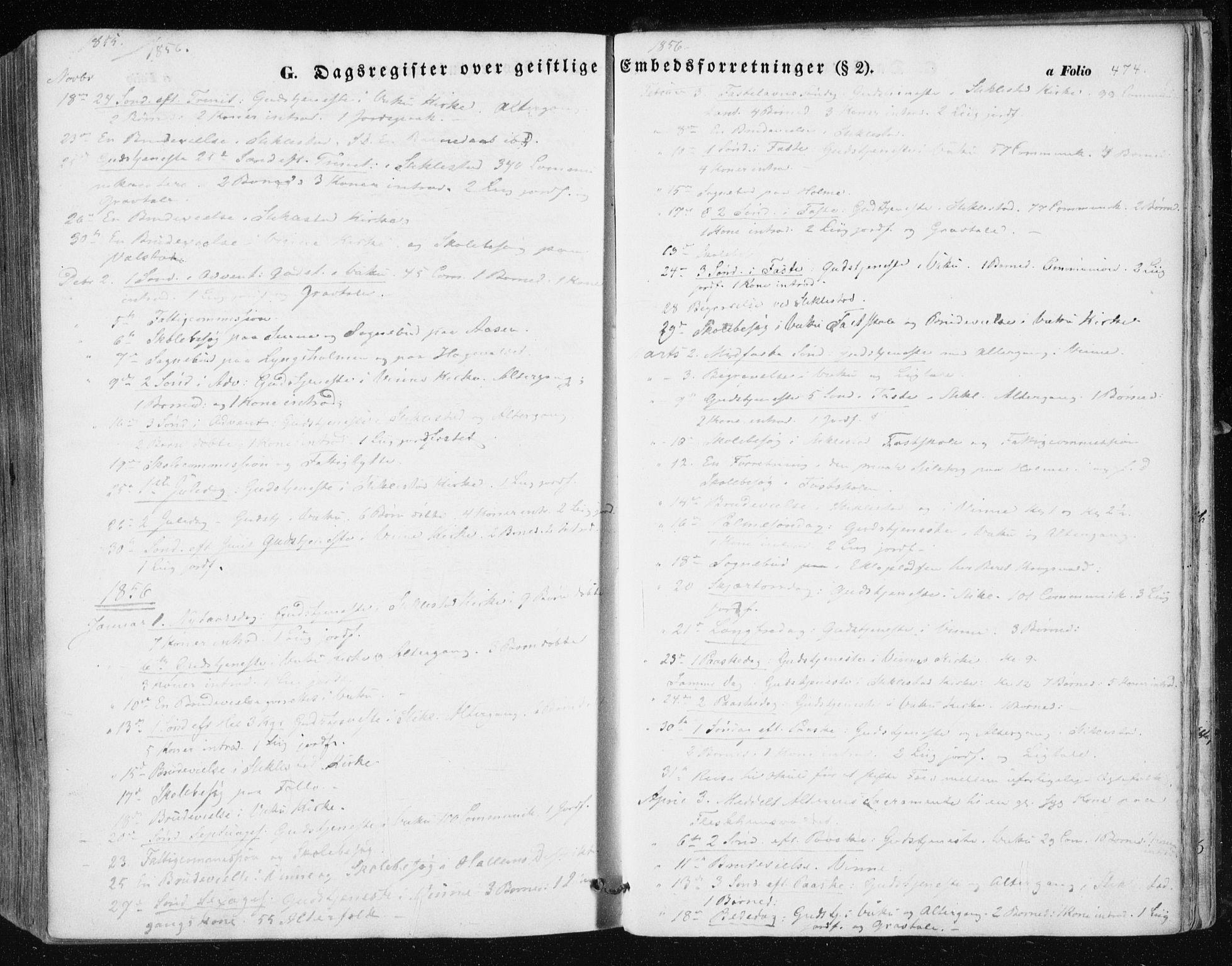 SAT, Ministerialprotokoller, klokkerbøker og fødselsregistre - Nord-Trøndelag, 723/L0240: Ministerialbok nr. 723A09, 1852-1860, s. 474