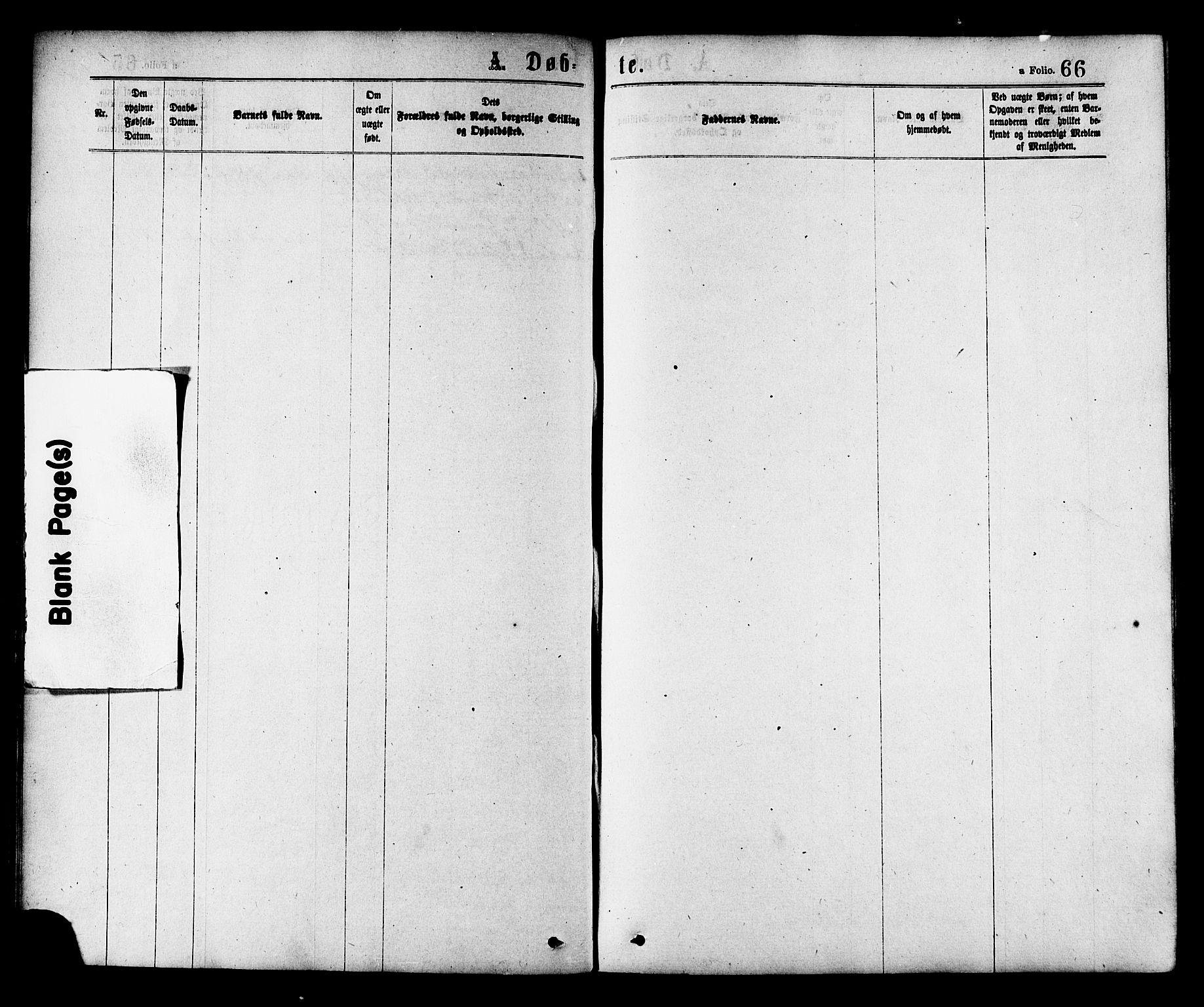 SAT, Ministerialprotokoller, klokkerbøker og fødselsregistre - Nord-Trøndelag, 758/L0516: Ministerialbok nr. 758A03 /2, 1869-1879, s. 66