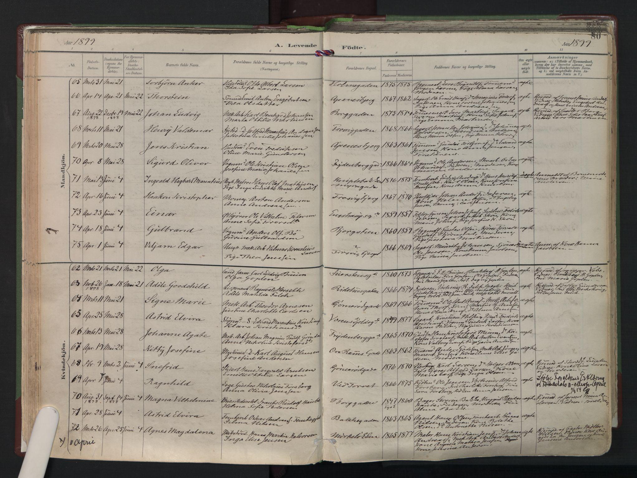 SAO, Fredrikstad domkirkes prestekontor Kirkebøker, F/Fa/L0006: Ministerialbok nr. I 6, 1894-1914, s. 80