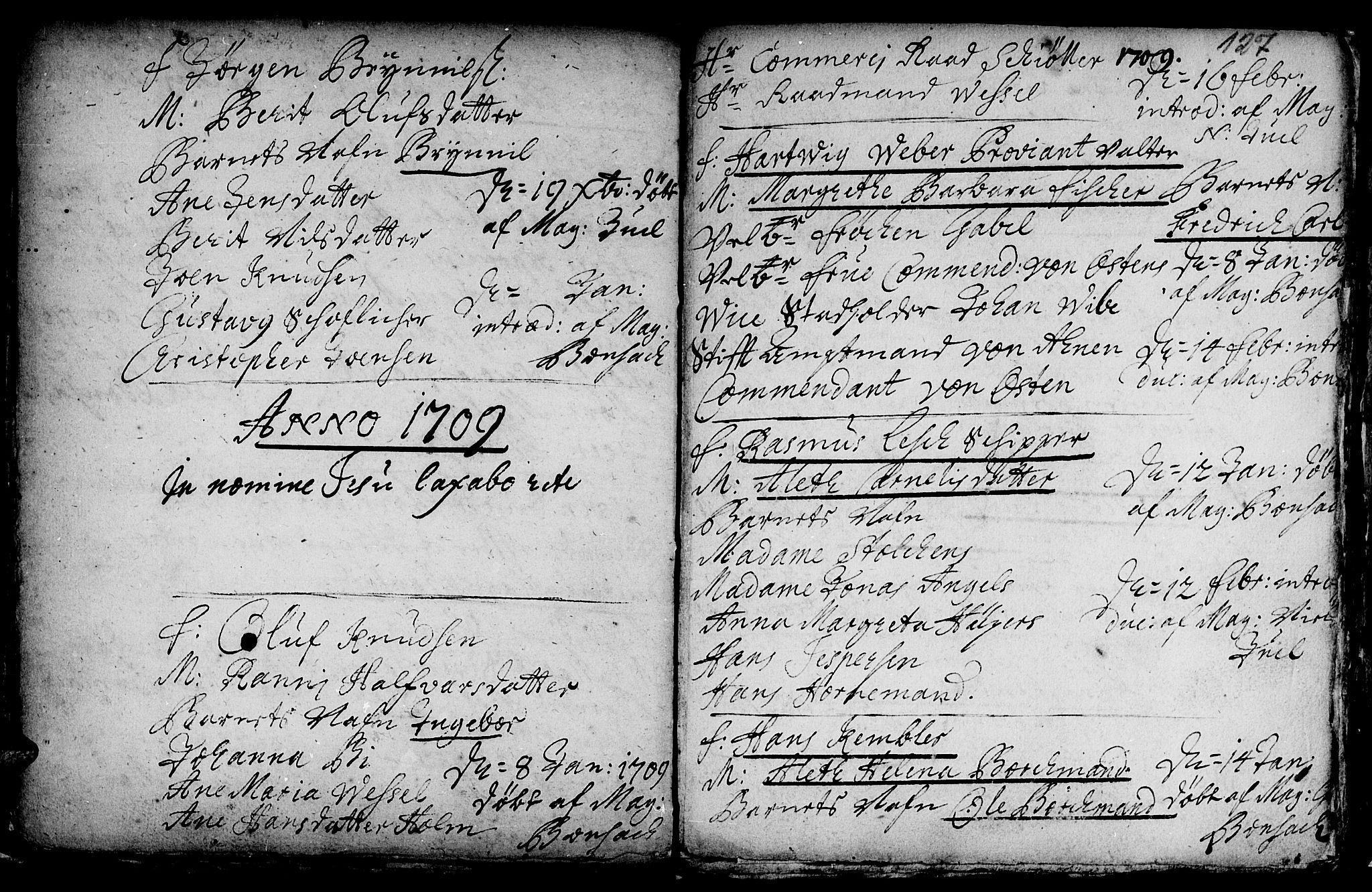 SAT, Ministerialprotokoller, klokkerbøker og fødselsregistre - Sør-Trøndelag, 601/L0034: Ministerialbok nr. 601A02, 1702-1714, s. 127
