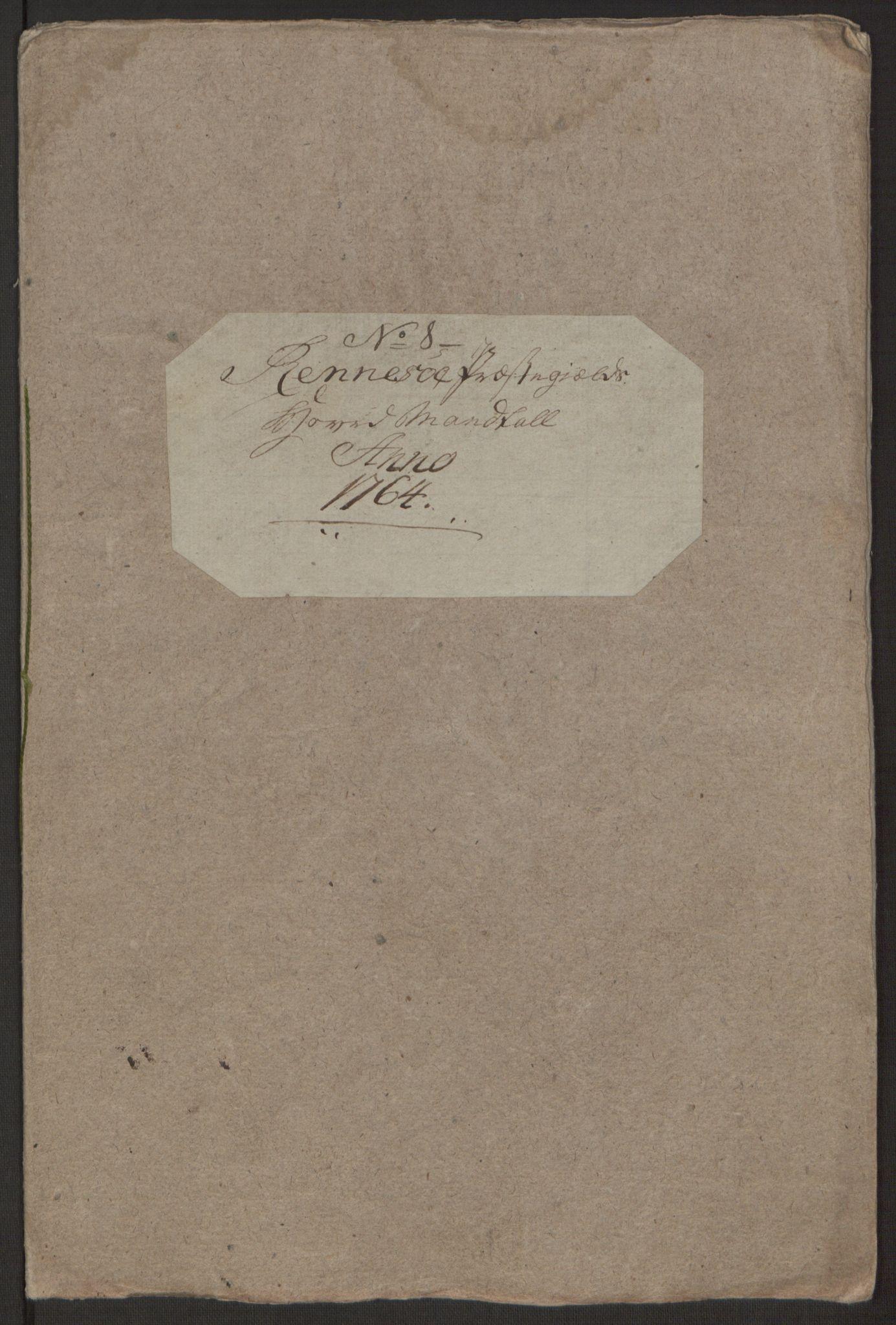 RA, Rentekammeret inntil 1814, Realistisk ordnet avdeling, Ol/L0016b: [Gg 10]: Ekstraskatten, 23.09.1762. Ryfylke, 1764-1768, s. 5