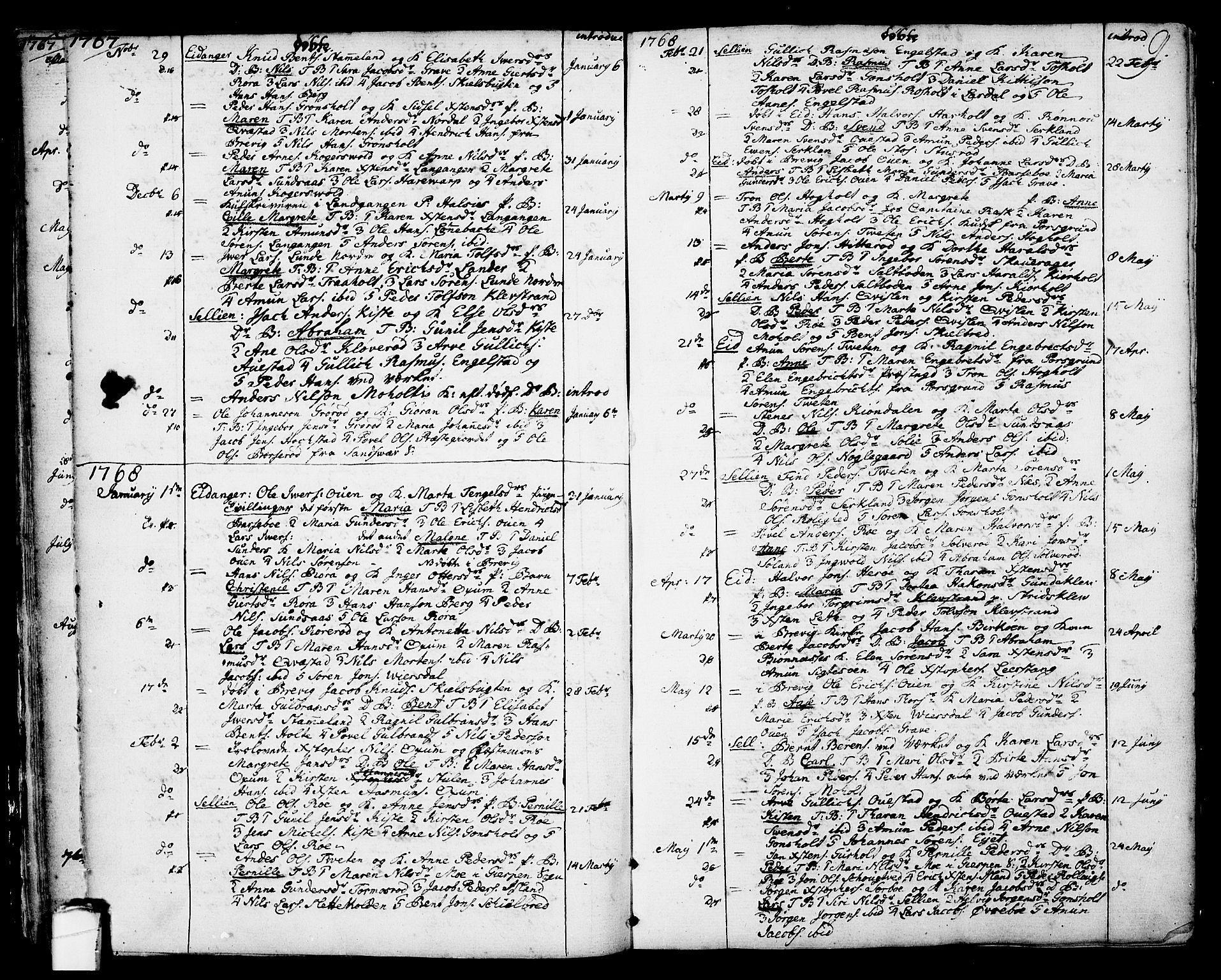 SAKO, Eidanger kirkebøker, F/Fa/L0006: Ministerialbok nr. 6, 1764-1814, s. 9