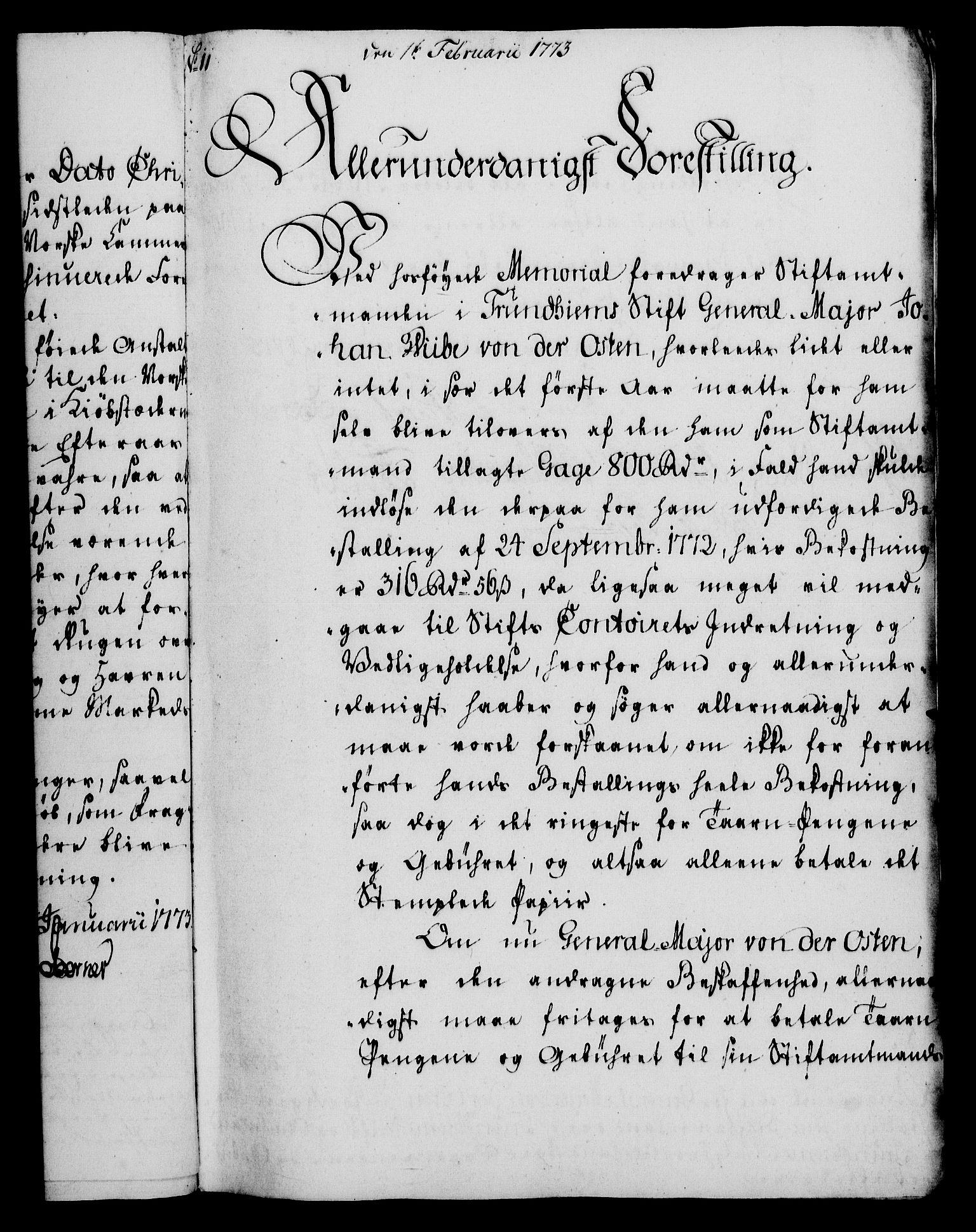 RA, Rentekammeret, Kammerkanselliet, G/Gf/Gfa/L0055: Norsk relasjons- og resolusjonsprotokoll (merket RK 52.55), 1773, s. 56
