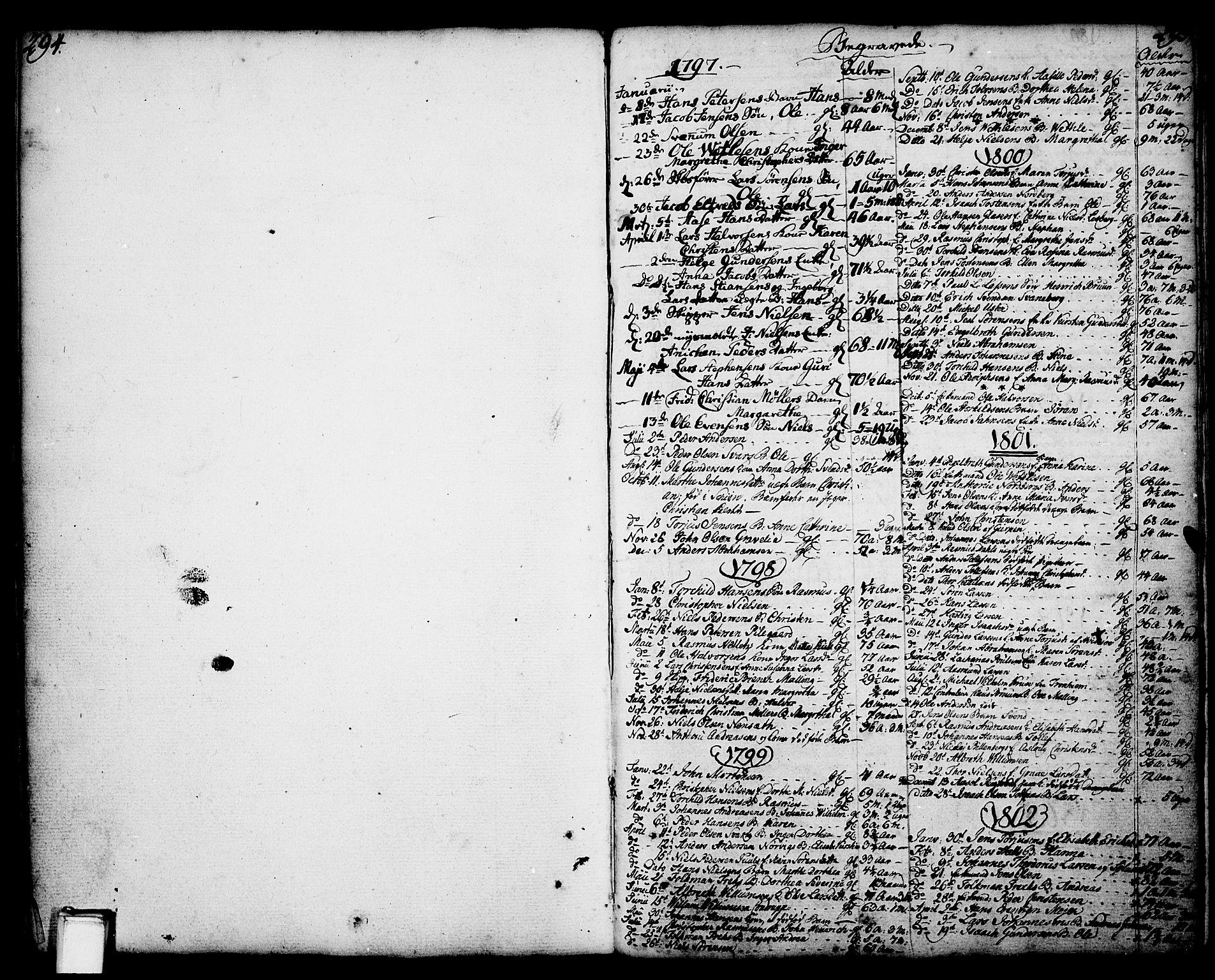 SAKO, Porsgrunn kirkebøker , F/Fa/L0001: Ministerialbok nr. 1, 1764-1814, s. 294-295