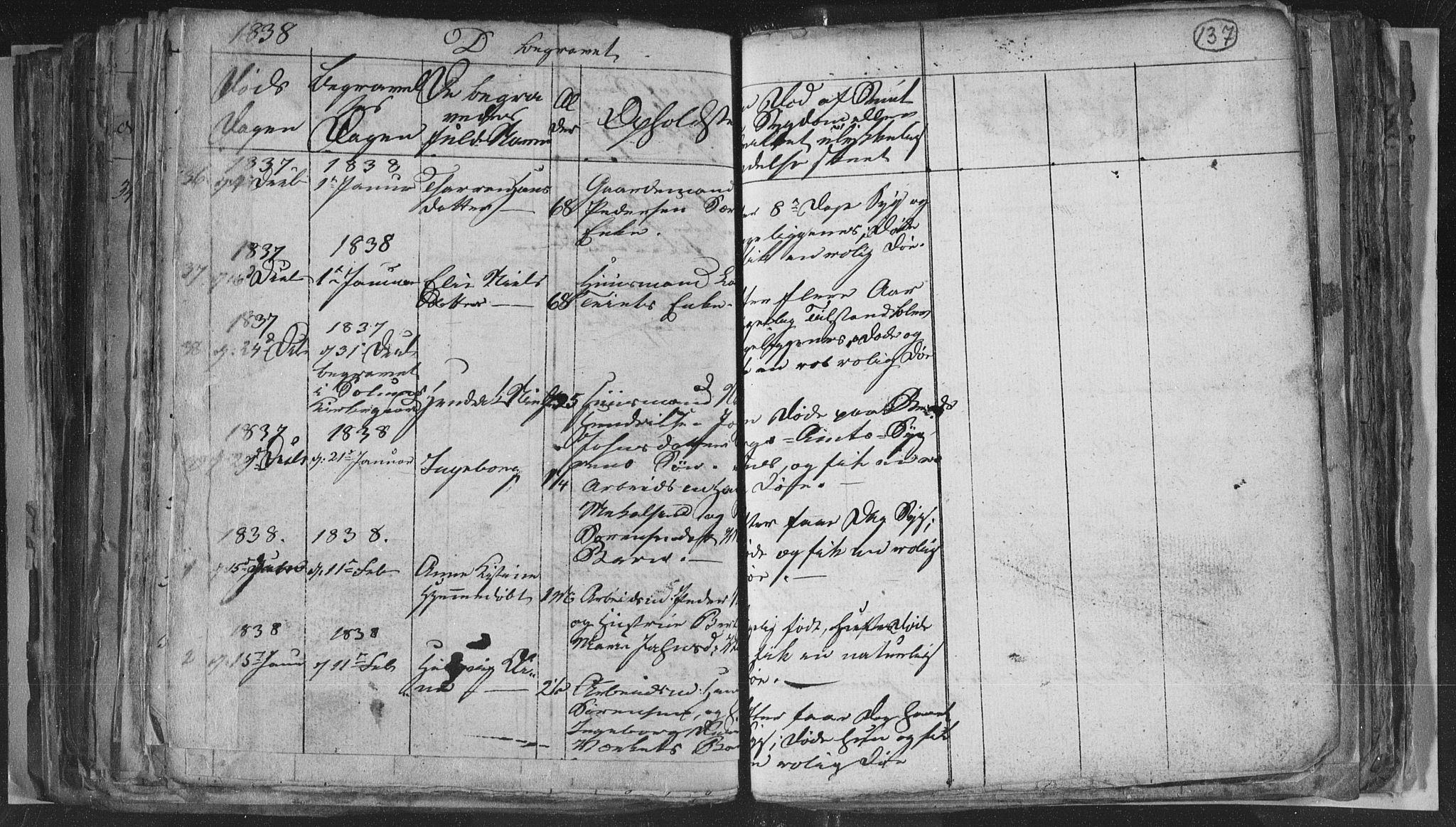 SAKO, Siljan kirkebøker, G/Ga/L0001: Klokkerbok nr. 1, 1827-1847, s. 137