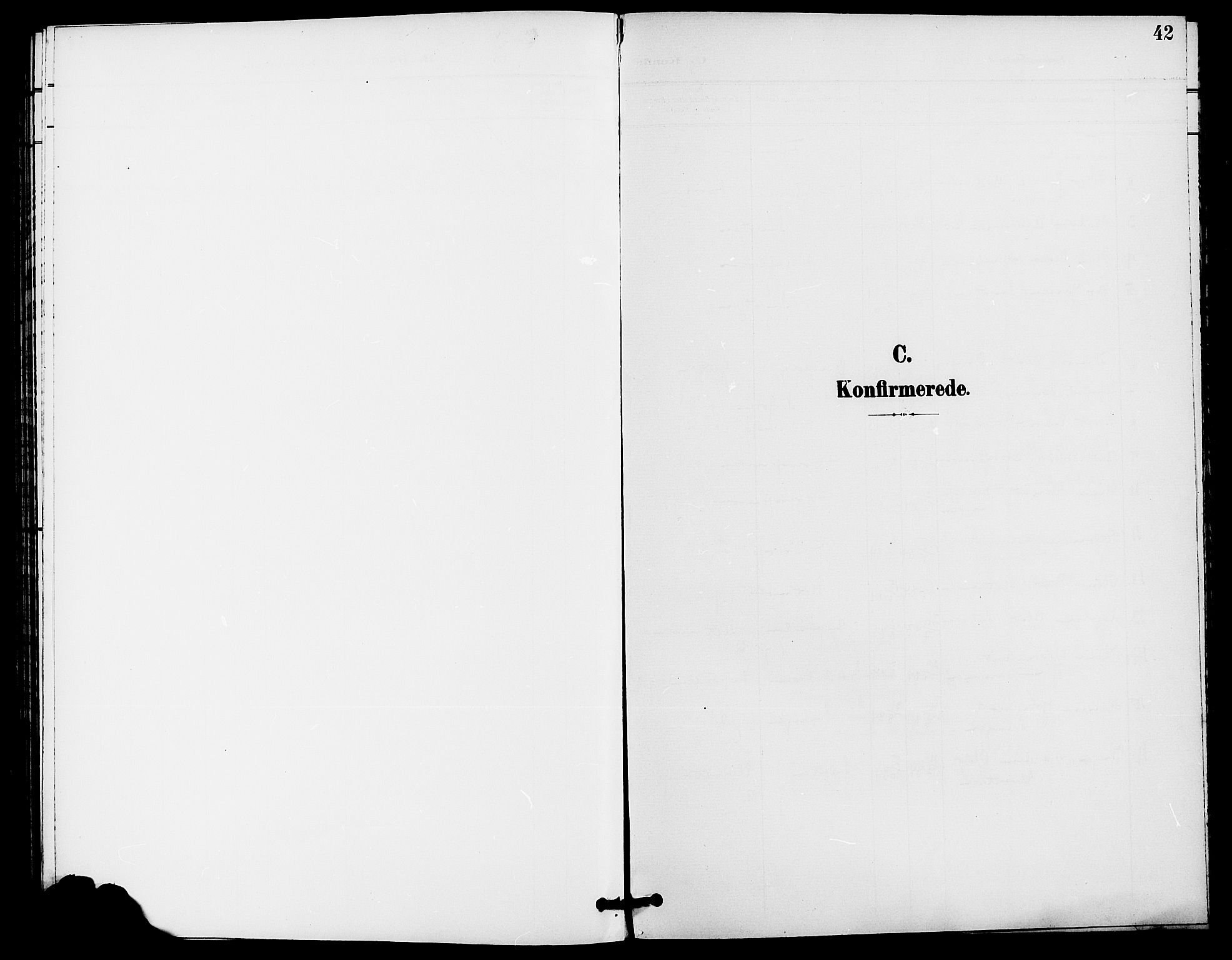 SAH, Rendalen prestekontor, H/Ha/Haa/L0008: Ministerialbok nr. 8, 1898-1910, s. 42