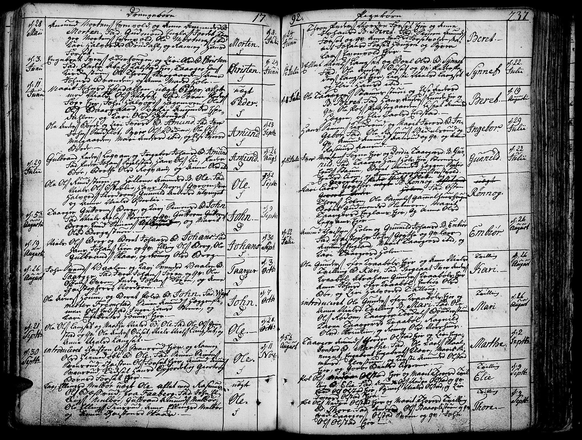 SAH, Gausdal prestekontor, Ministerialbok nr. 3, 1758-1809, s. 237