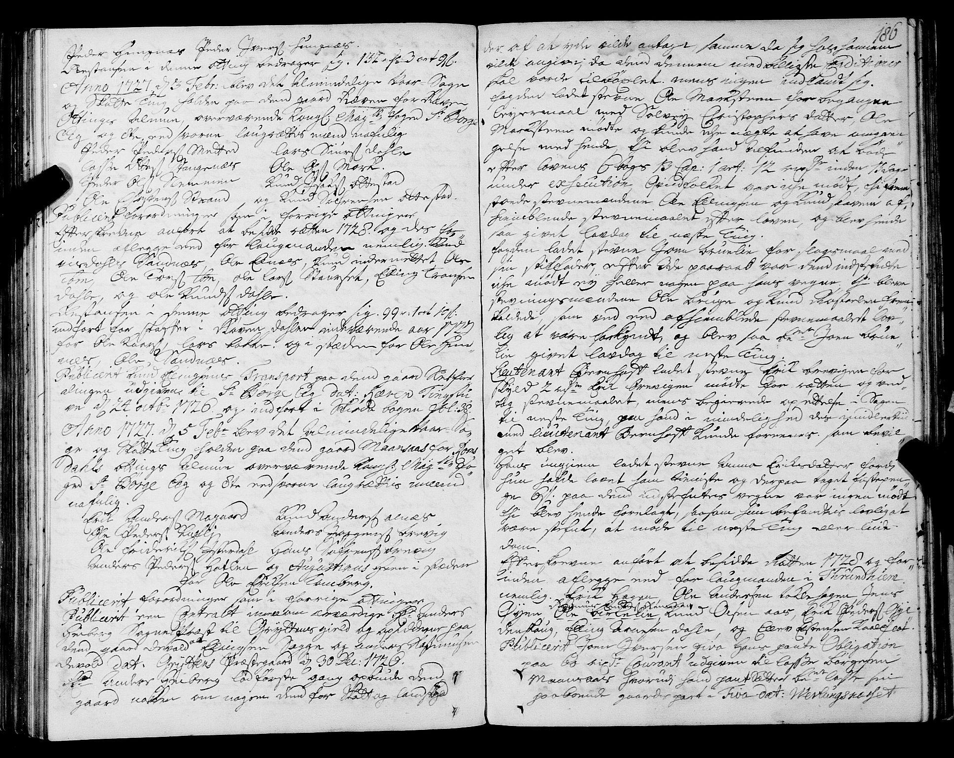 SAT, Romsdal sorenskriveri, 1/1A/L0009: Tingbok, 1722-1728, s. 185b-186a