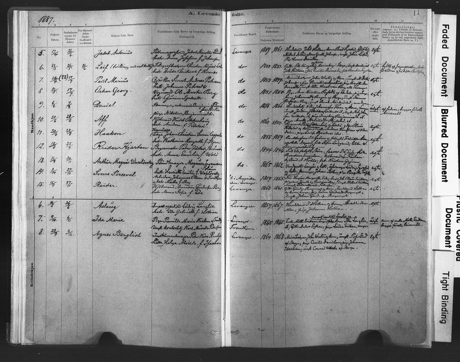 SAT, Ministerialprotokoller, klokkerbøker og fødselsregistre - Nord-Trøndelag, 720/L0189: Ministerialbok nr. 720A05, 1880-1911, s. 11