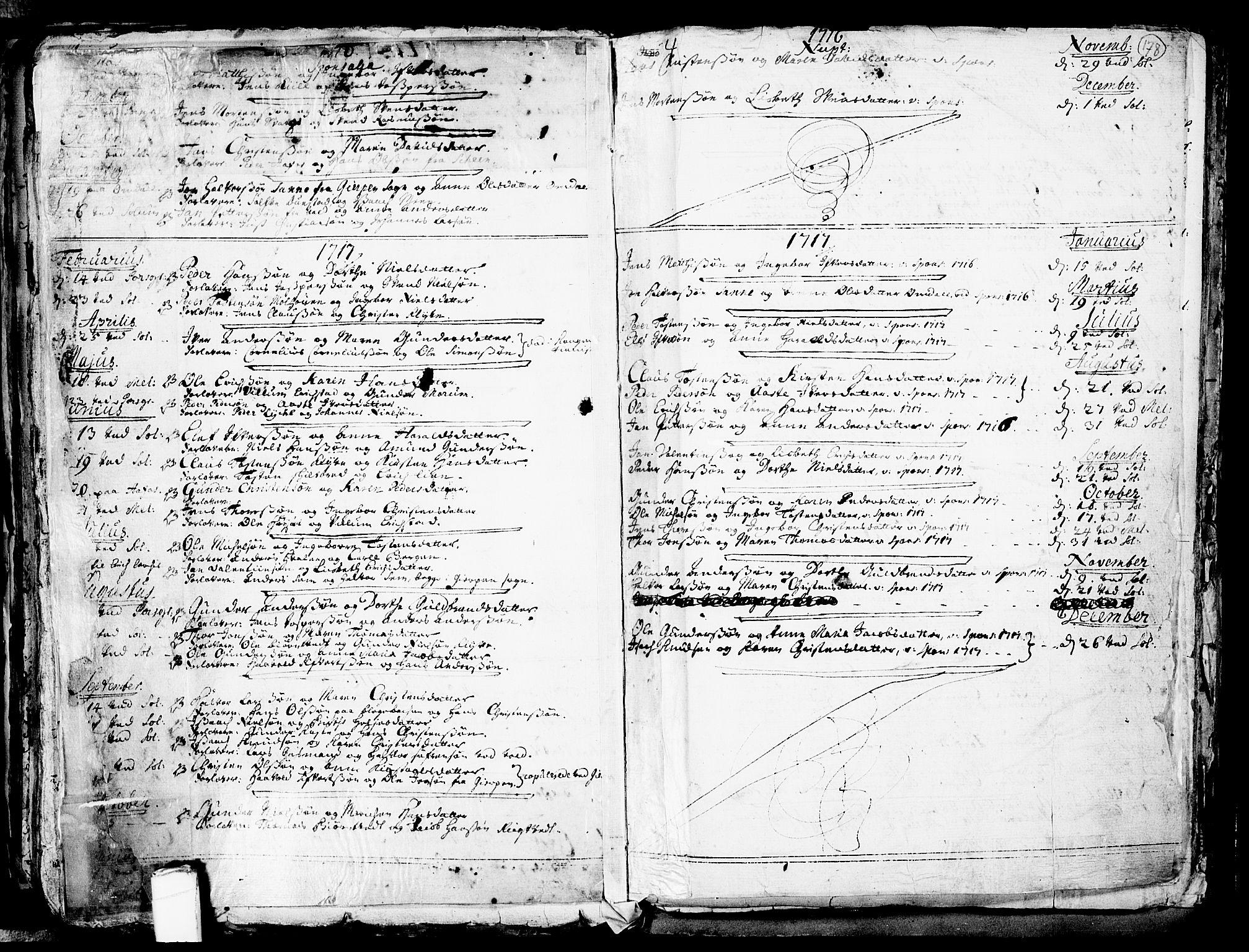 SAKO, Solum kirkebøker, F/Fa/L0002: Ministerialbok nr. I 2, 1713-1761, s. 178