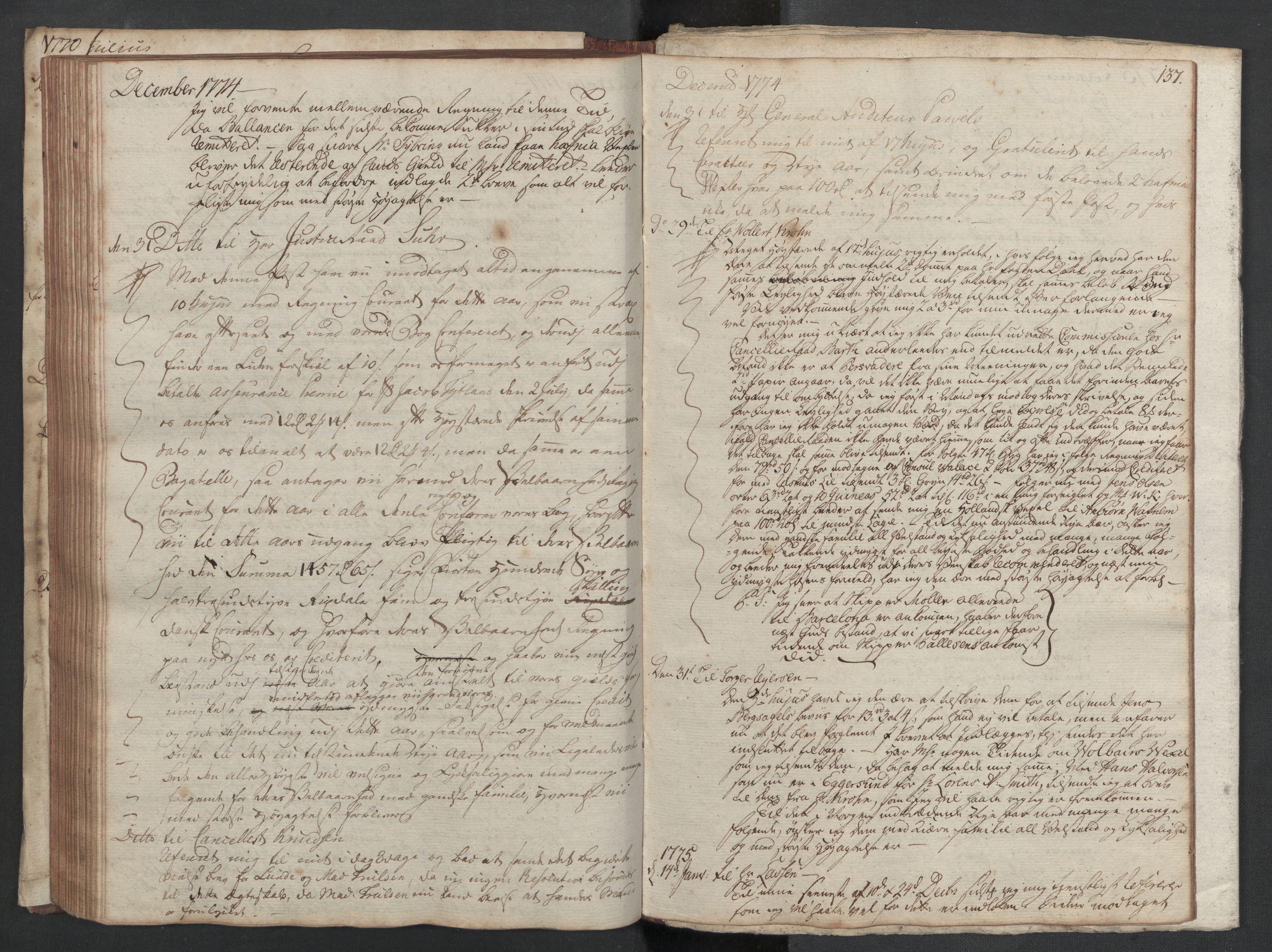 SAST, Pa 0003 - Ploug & Sundt, handelshuset, B/L0002: Kopibok, 1770-1775, s. 136b-137a