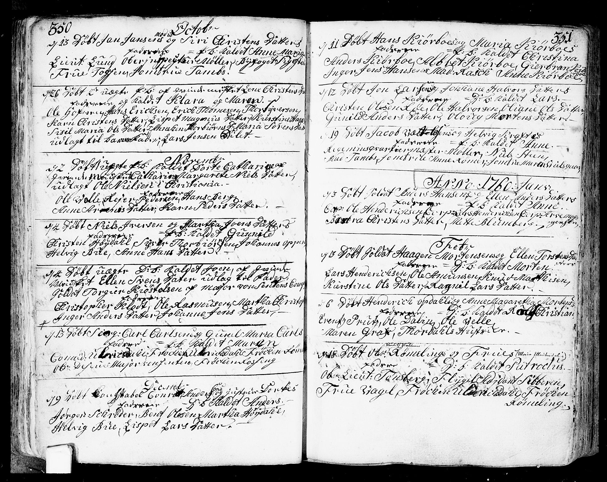 SAO, Fredrikstad prestekontor Kirkebøker, F/Fa/L0002: Ministerialbok nr. 2, 1750-1804, s. 350-351