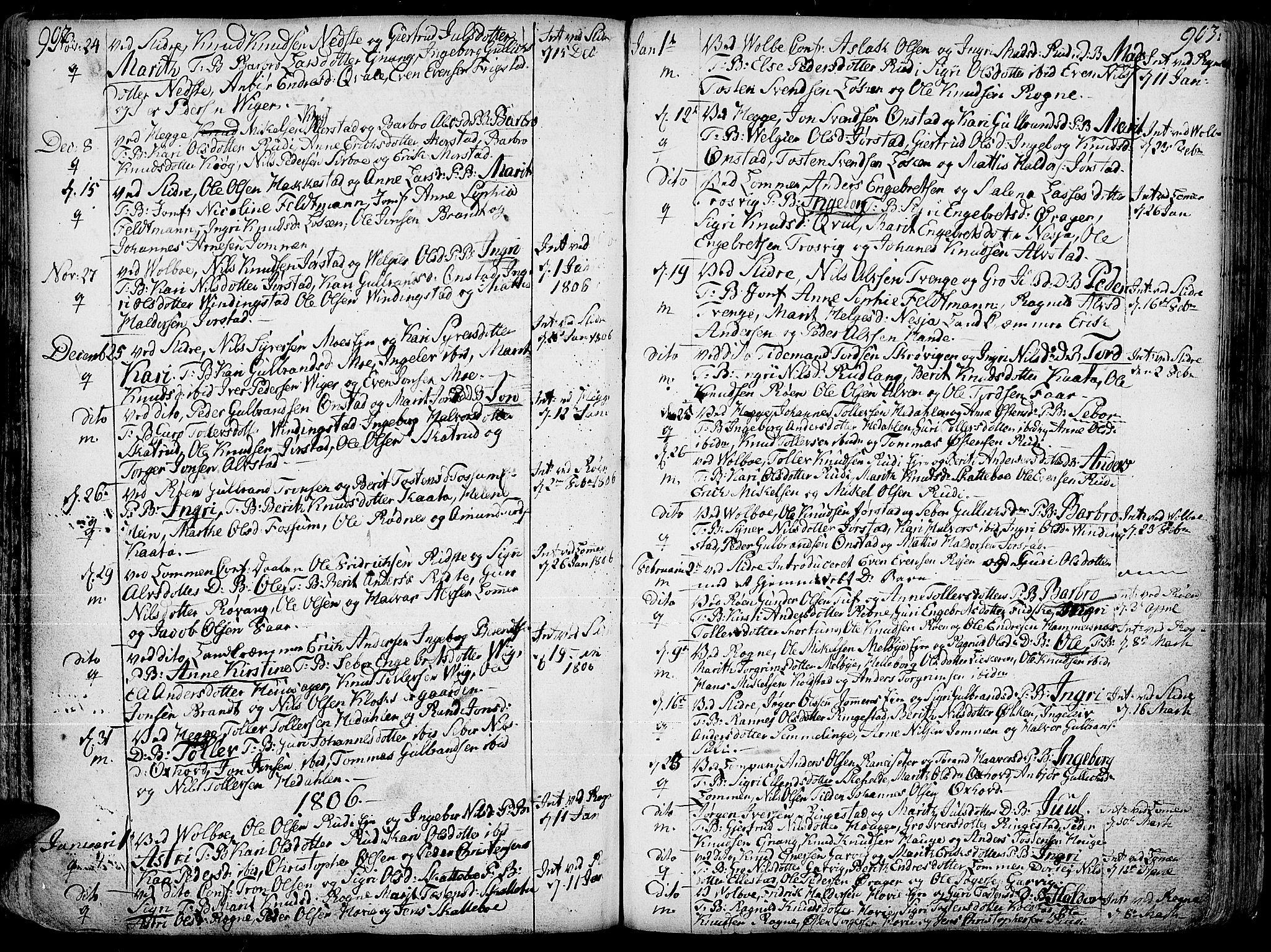 SAH, Slidre prestekontor, Ministerialbok nr. 1, 1724-1814, s. 902-903