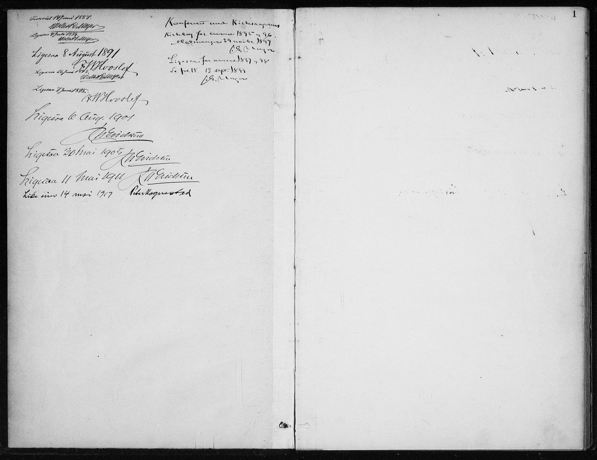 SAB, Kvinnherad Sokneprestembete, H/Haa: Ministerialbok nr. F 1, 1887-1912, s. 1