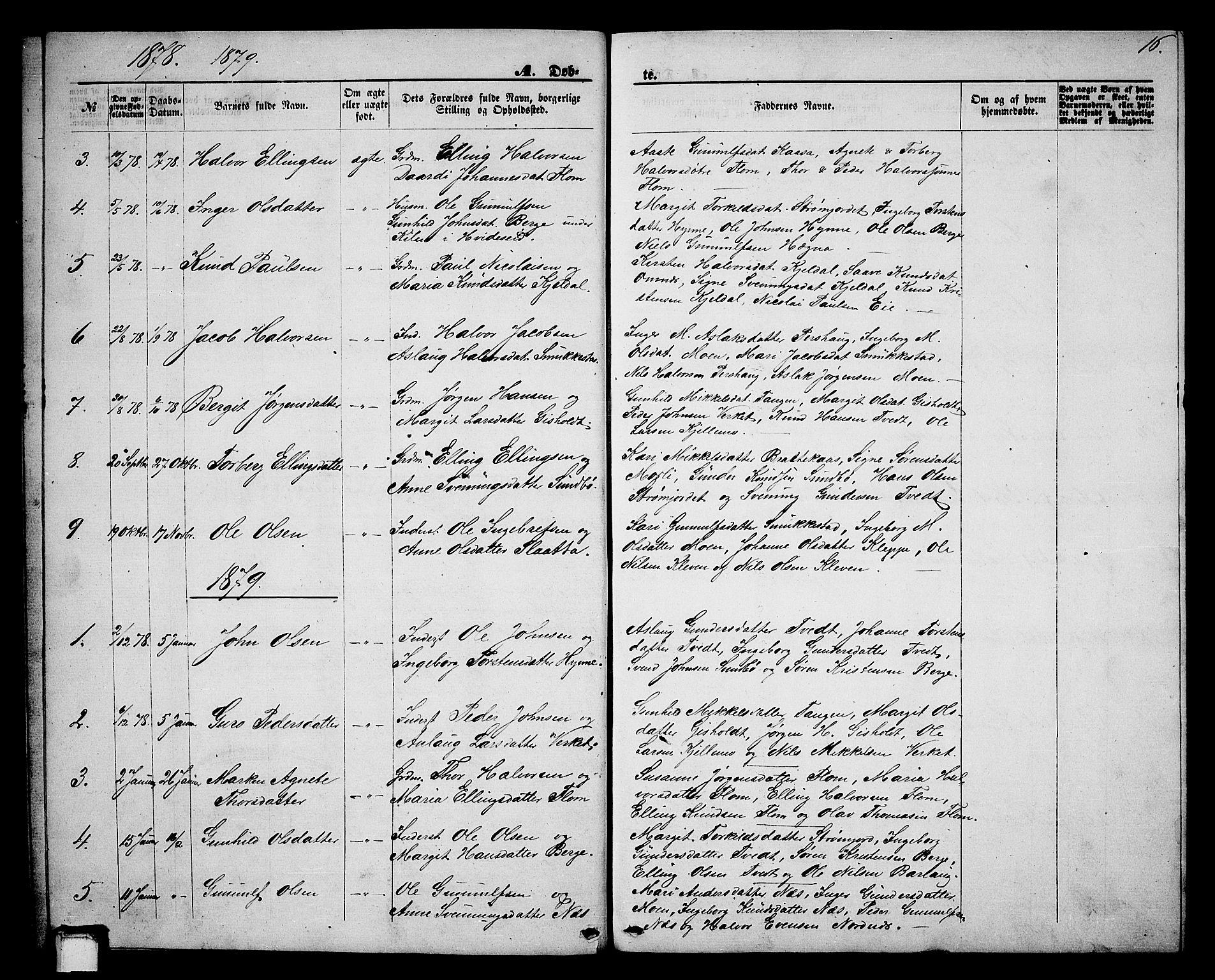 SAKO, Lunde kirkebøker, G/Gb/L0001: Klokkerbok nr. II 1, 1866-1887, s. 16