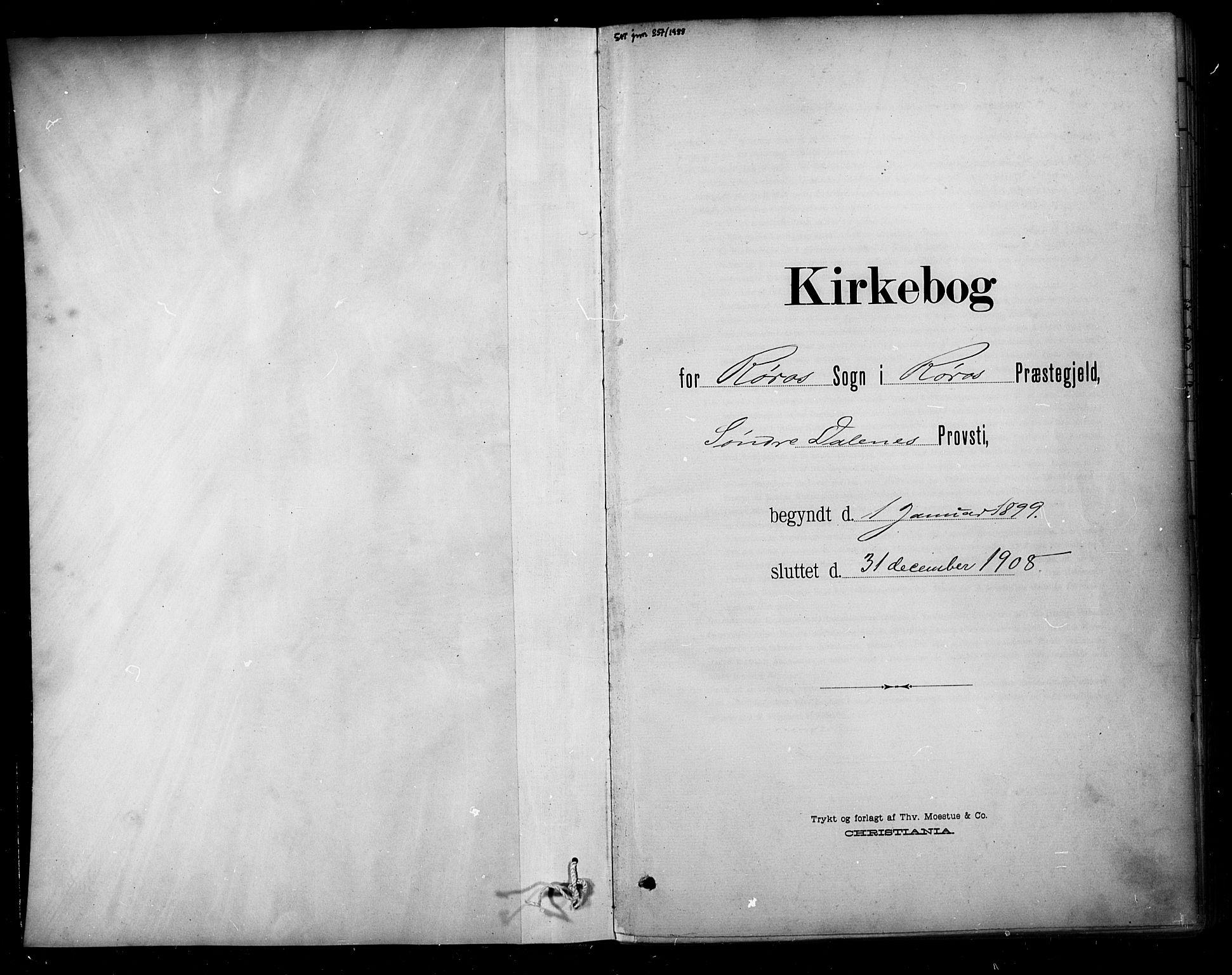SAT, Ministerialprotokoller, klokkerbøker og fødselsregistre - Sør-Trøndelag, 681/L0936: Ministerialbok nr. 681A14, 1899-1908