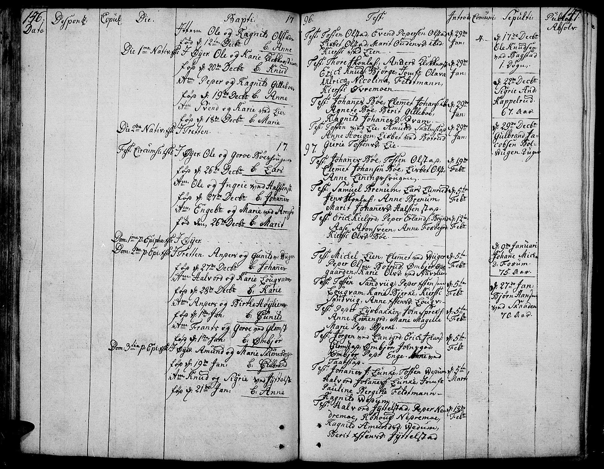 SAH, Øyer prestekontor, Ministerialbok nr. 3, 1784-1824, s. 146-147