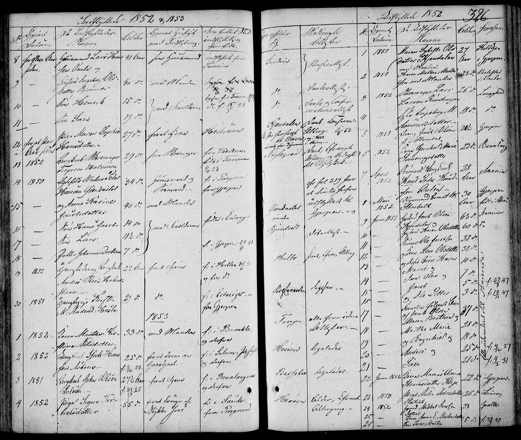 SAKO, Eidanger kirkebøker, F/Fa/L0008: Ministerialbok nr. 8, 1831-1858, s. 326