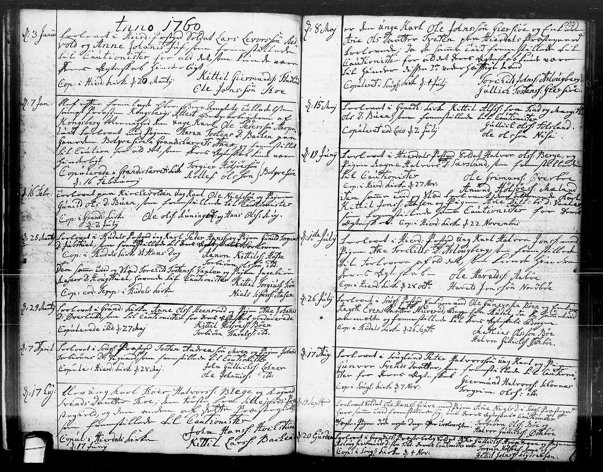SAKO, Hjartdal kirkebøker, F/Fa/L0004: Ministerialbok nr. I 4, 1727-1795, s. 37