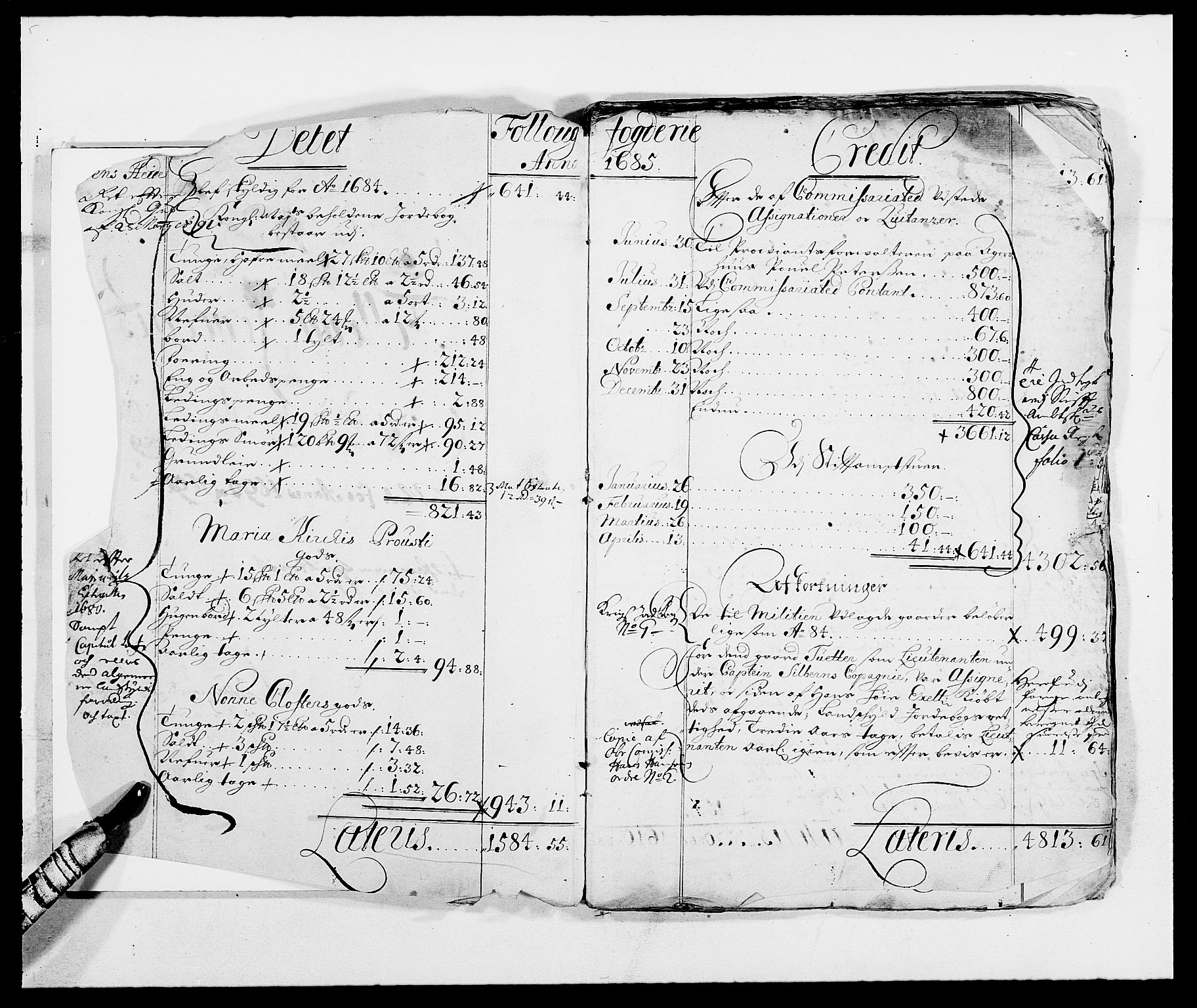 RA, Rentekammeret inntil 1814, Reviderte regnskaper, Fogderegnskap, R09/L0436: Fogderegnskap Follo, 1685-1691, s. 3