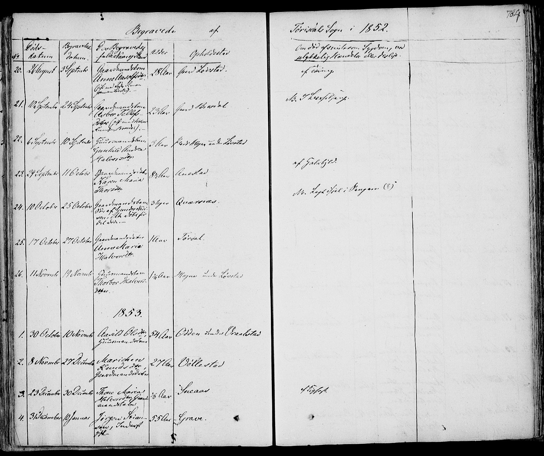 SAKO, Drangedal kirkebøker, F/Fa/L0007b: Ministerialbok nr. 7b, 1837-1856, s. 784