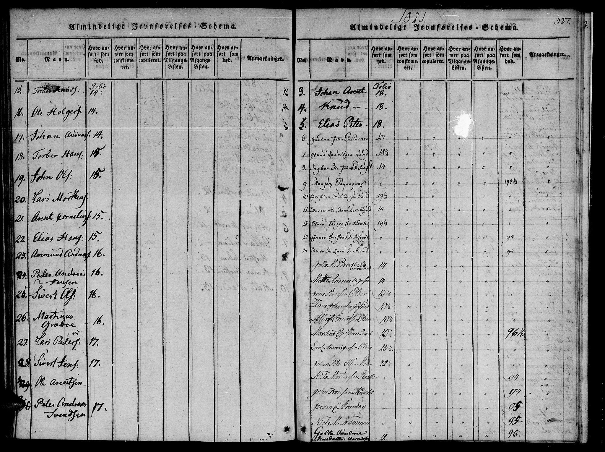 SAT, Ministerialprotokoller, klokkerbøker og fødselsregistre - Sør-Trøndelag, 655/L0675: Ministerialbok nr. 655A04, 1818-1830, s. 327