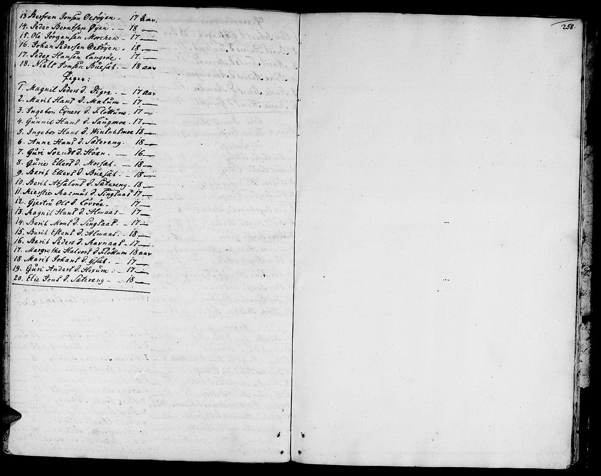 SAT, Ministerialprotokoller, klokkerbøker og fødselsregistre - Sør-Trøndelag, 685/L0952: Ministerialbok nr. 685A01, 1745-1804, s. 258