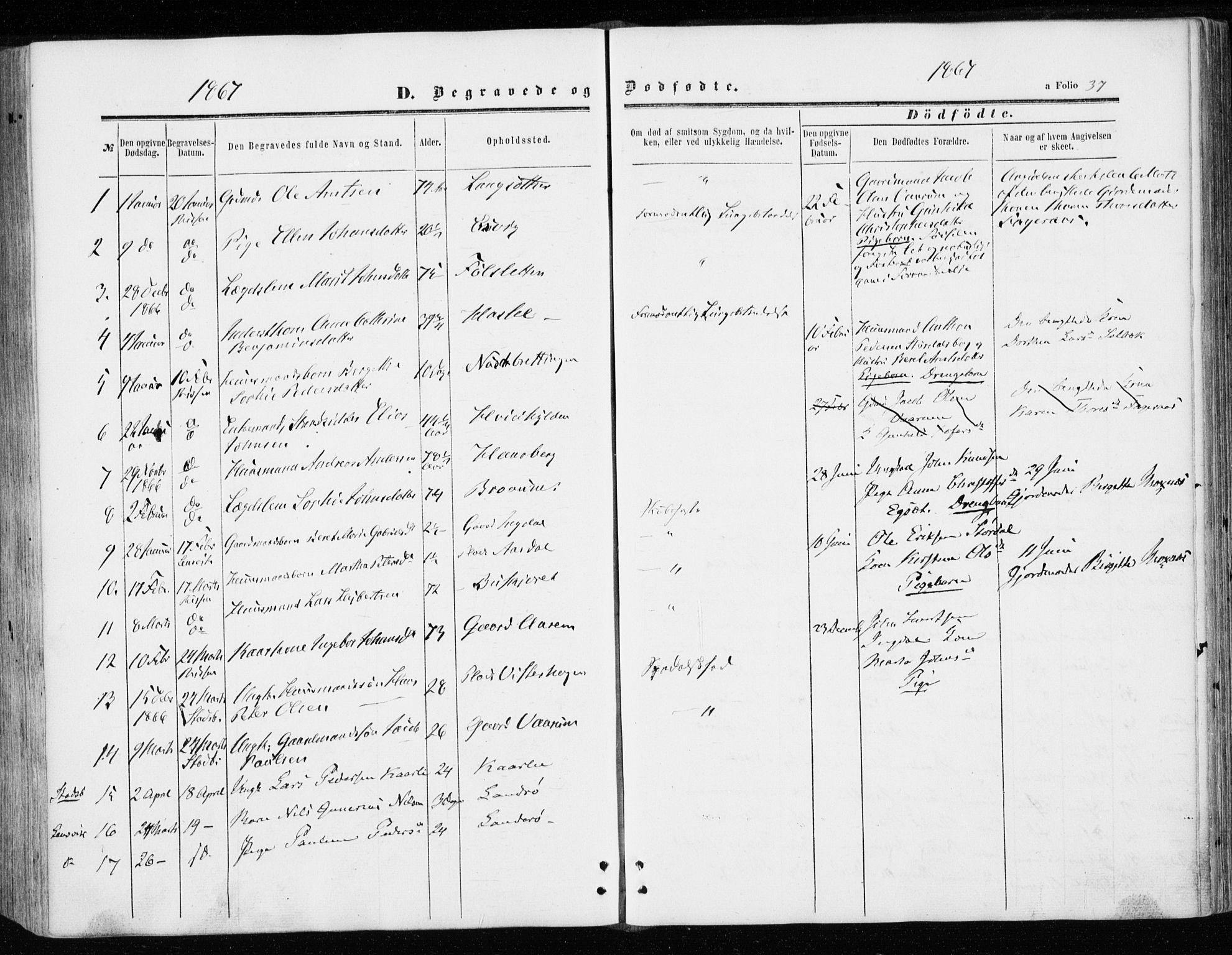 SAT, Ministerialprotokoller, klokkerbøker og fødselsregistre - Sør-Trøndelag, 646/L0612: Ministerialbok nr. 646A10, 1858-1869, s. 37