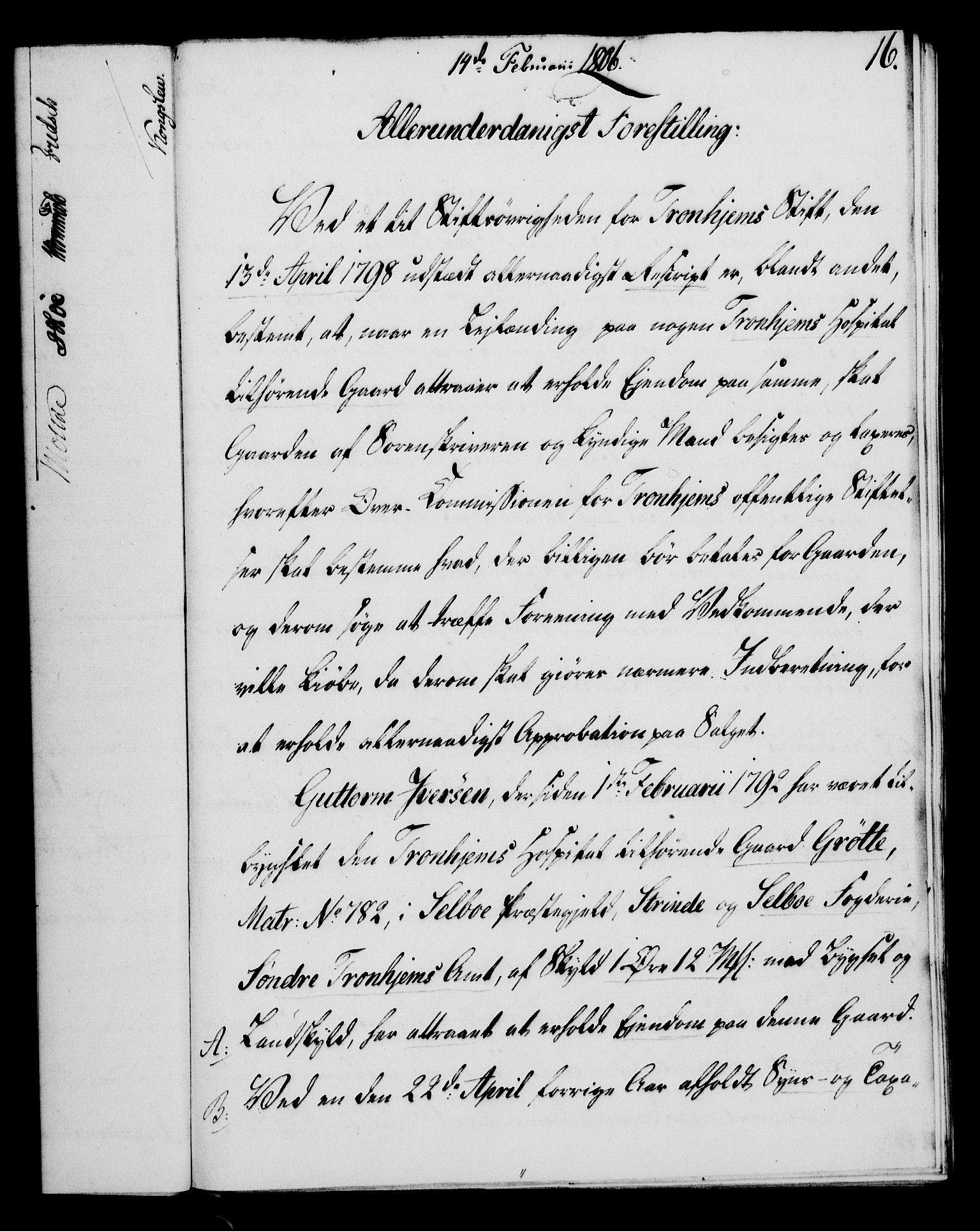 RA, Rentekammeret, Kammerkanselliet, G/Gf/Gfa/L0088: Norsk relasjons- og resolusjonsprotokoll (merket RK 52.88), 1806, s. 109