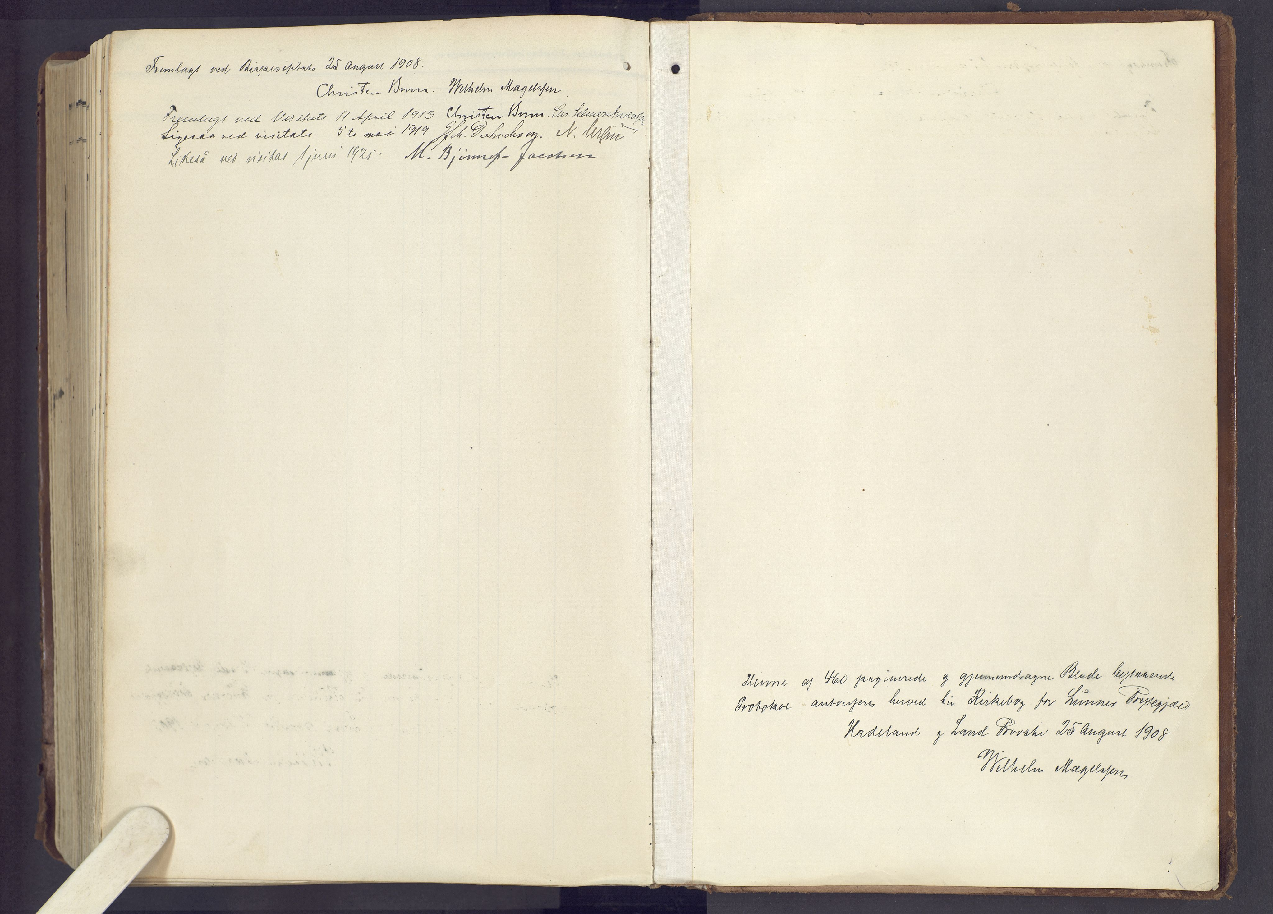 SAH, Lunner prestekontor, H/Ha/Haa/L0001: Ministerialbok nr. 1, 1907-1922